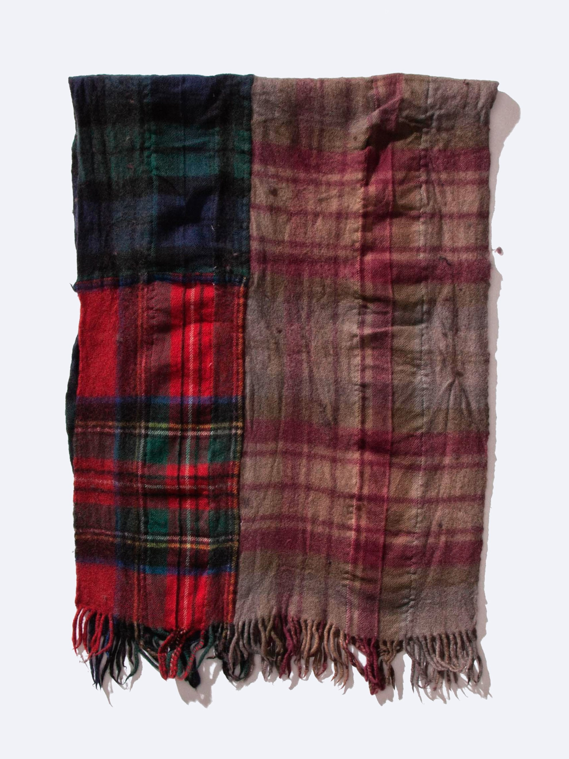 Wide Paneled Fabric Scarf