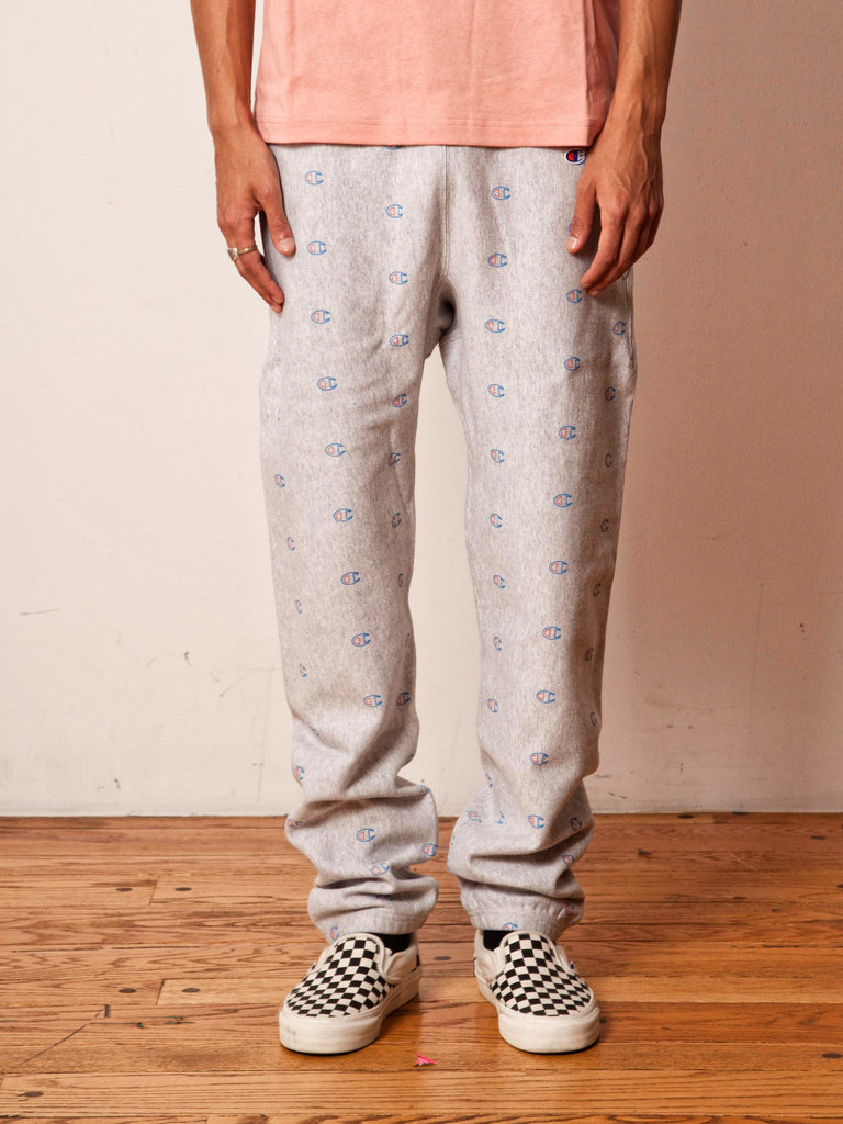 Grey All Over Print Sweatpants 2161947189257
