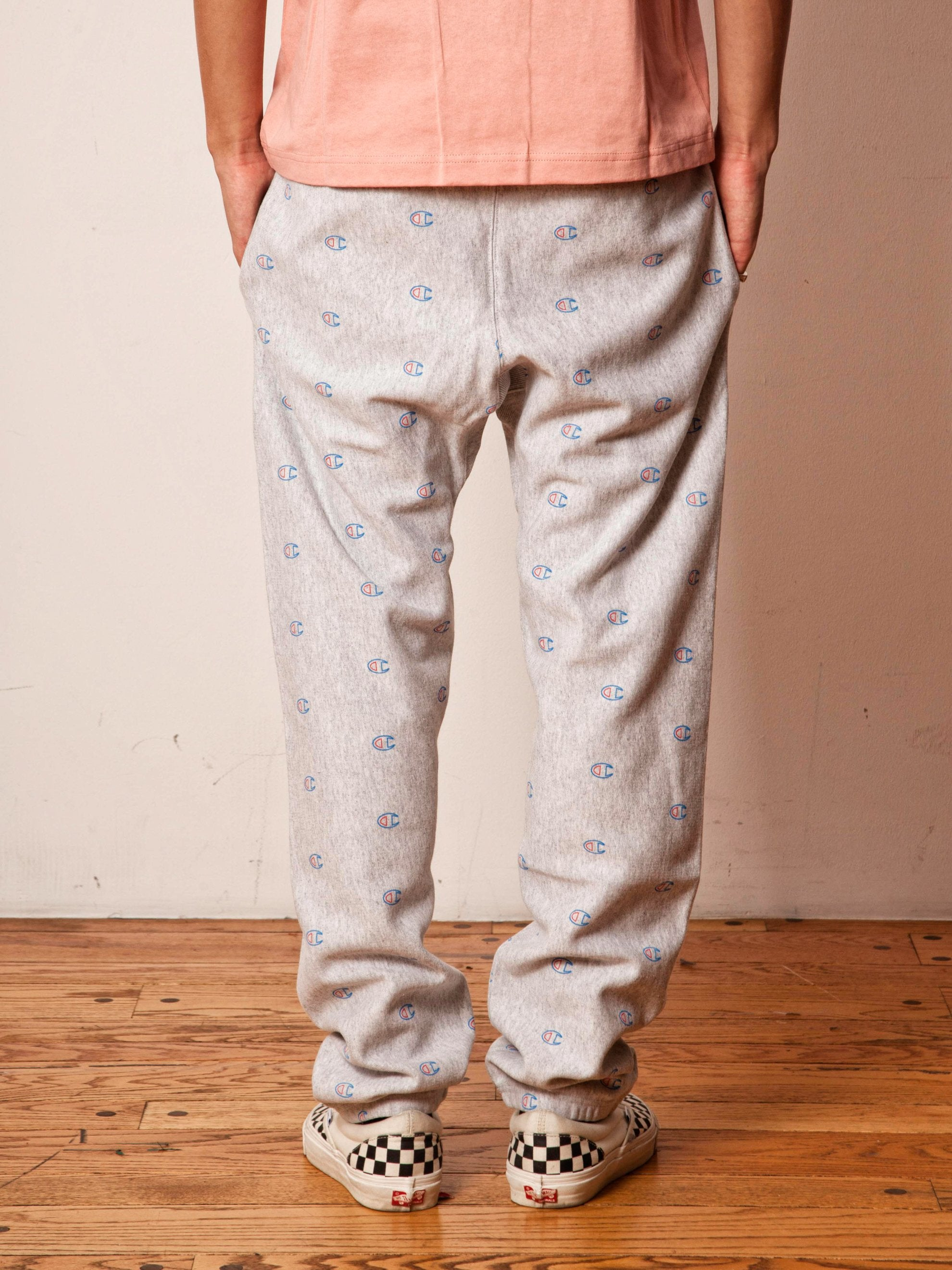 Grey All Over Print Sweatpants 5