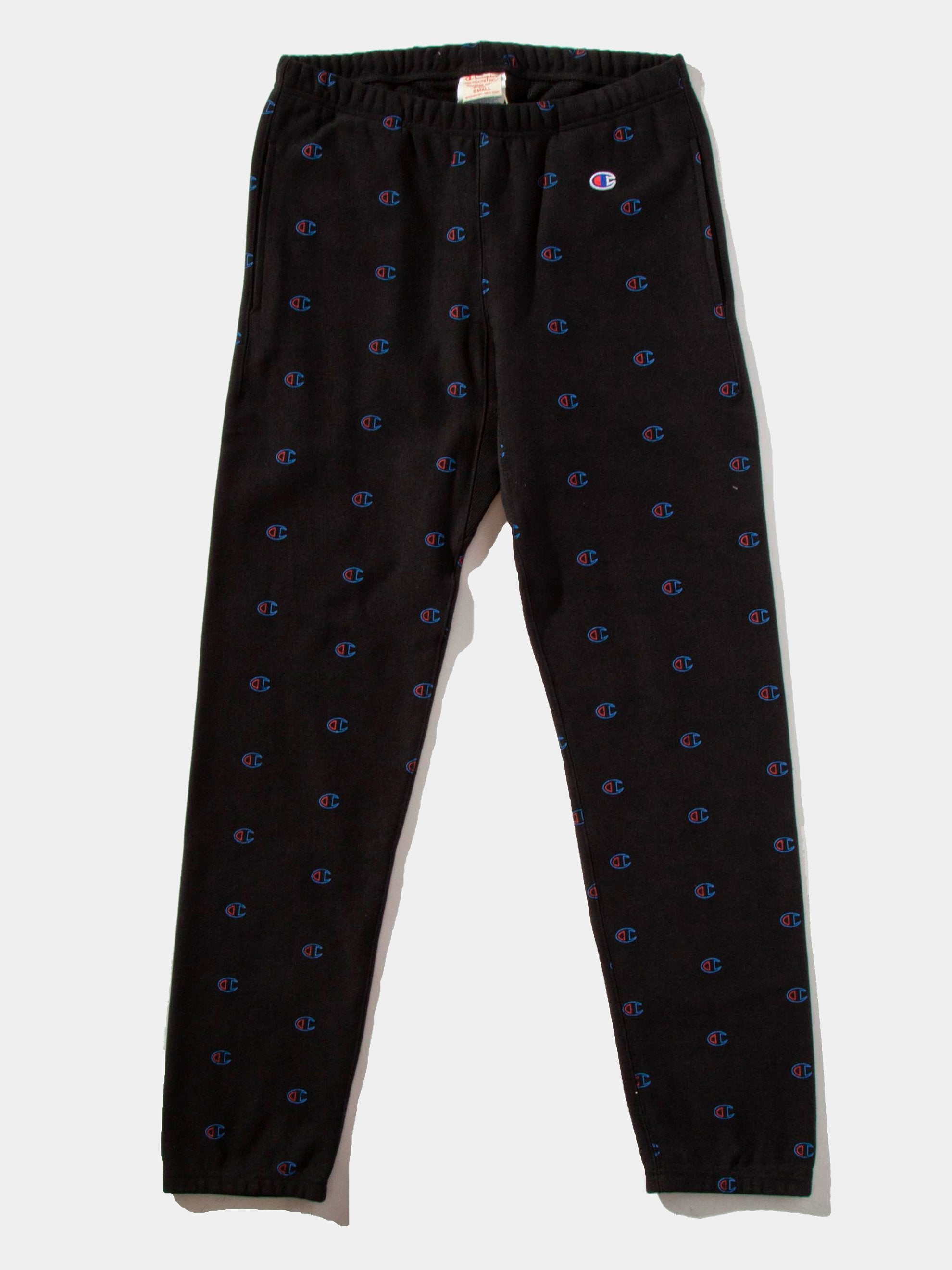Black All Over Print Sweatpants 10