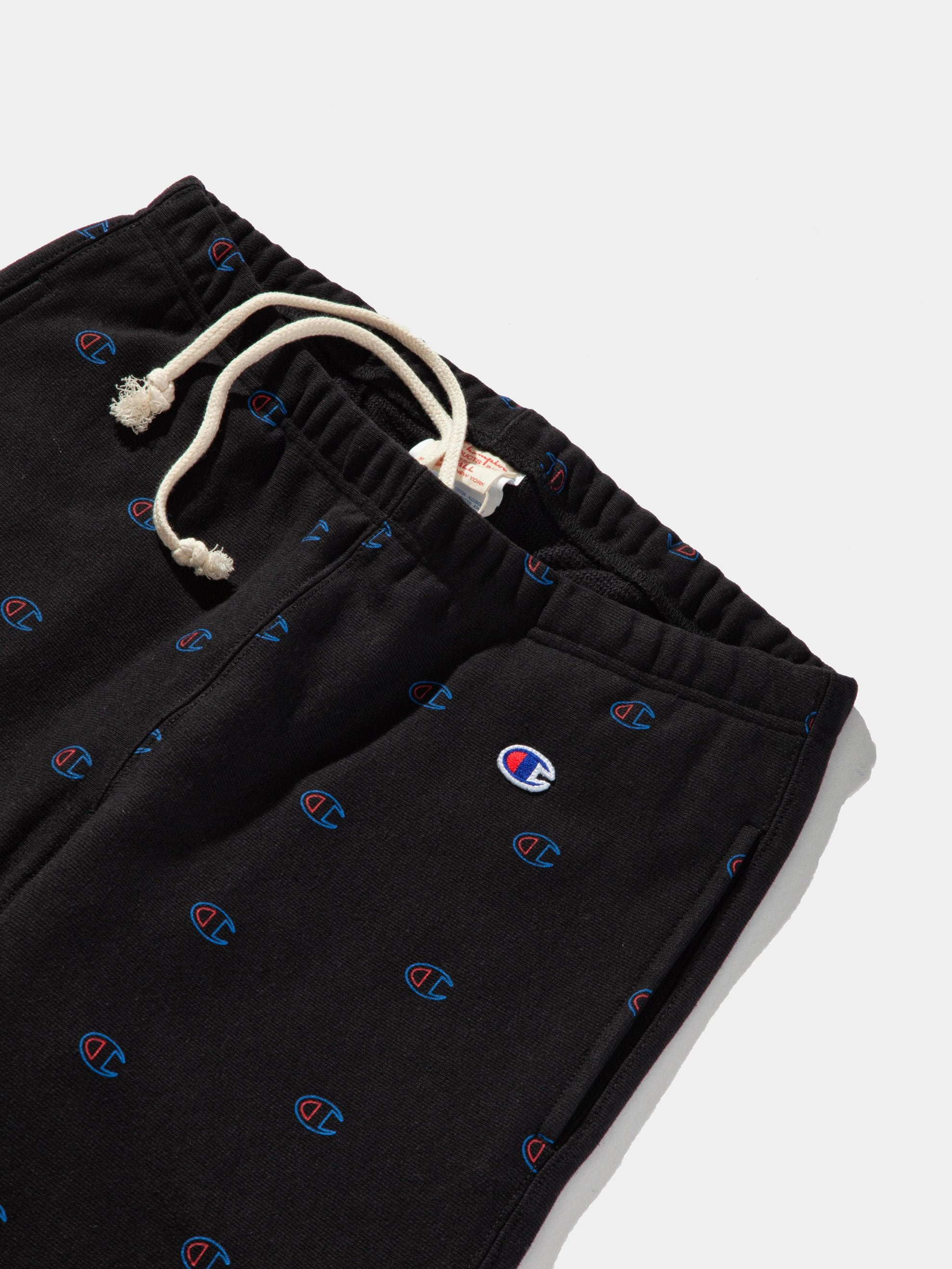 Black All Over Print Sweatpants 13