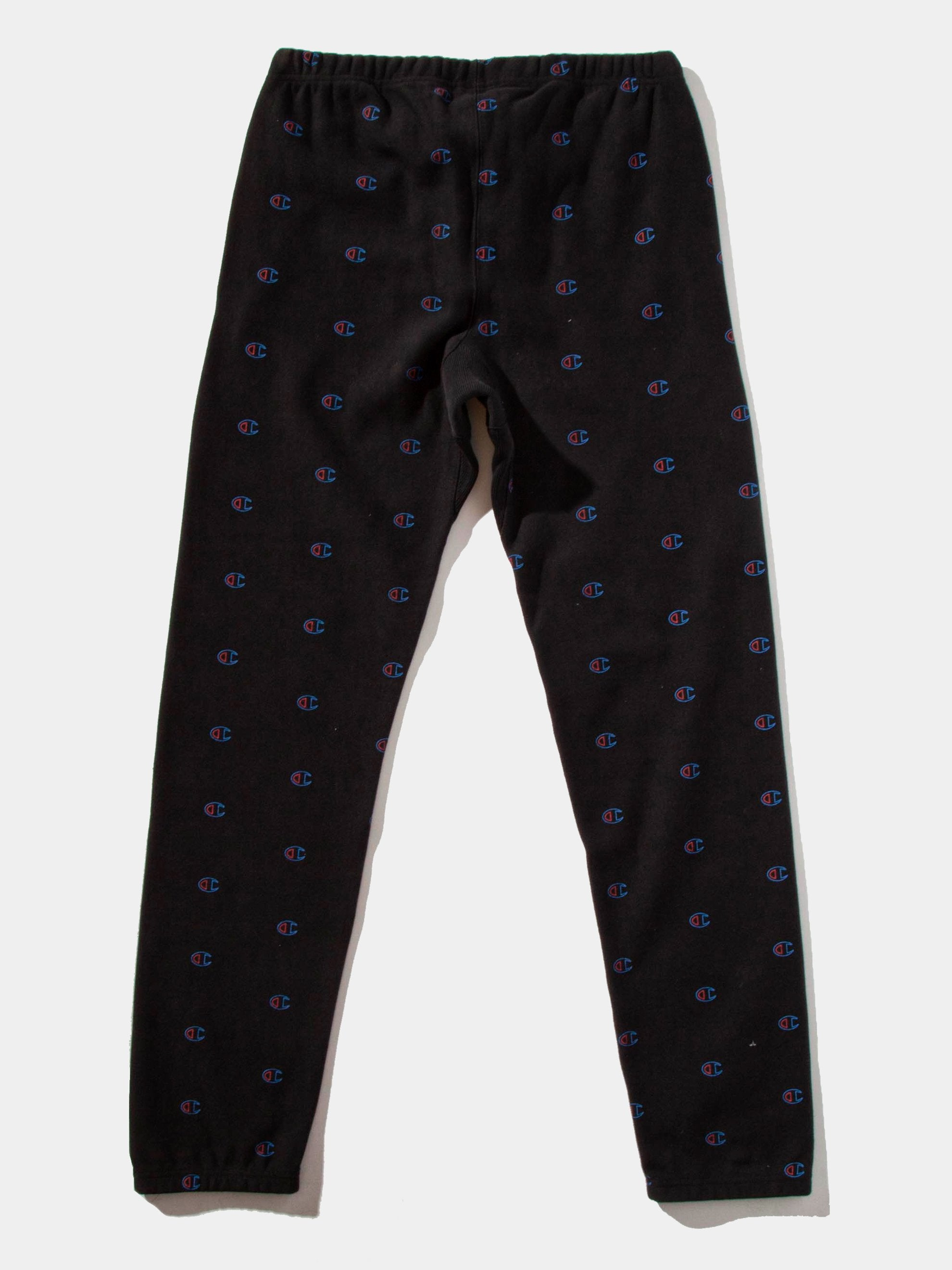 Black All Over Print Sweatpants 15