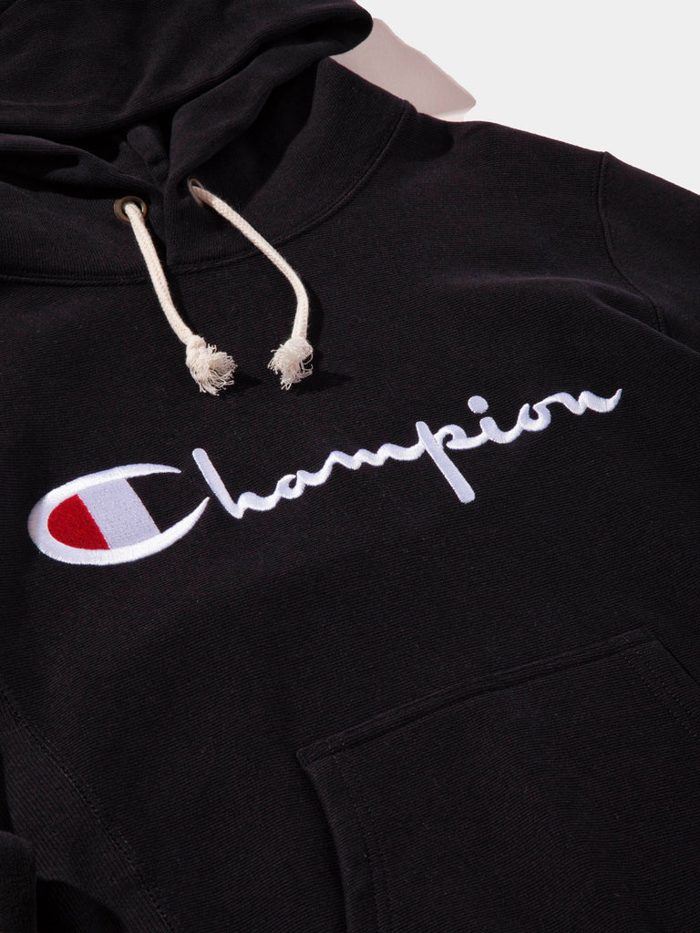 Black Logo Hooded Sweatshirt 8163946266633