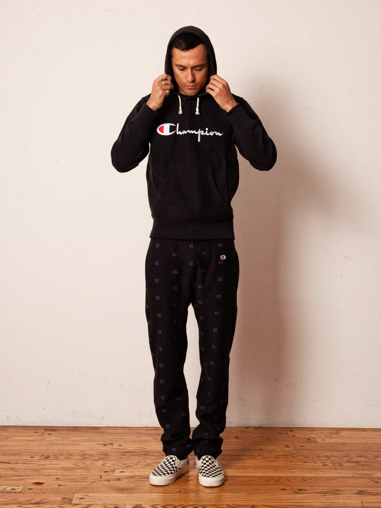 Black Logo Hooded Sweatshirt 7161954758665