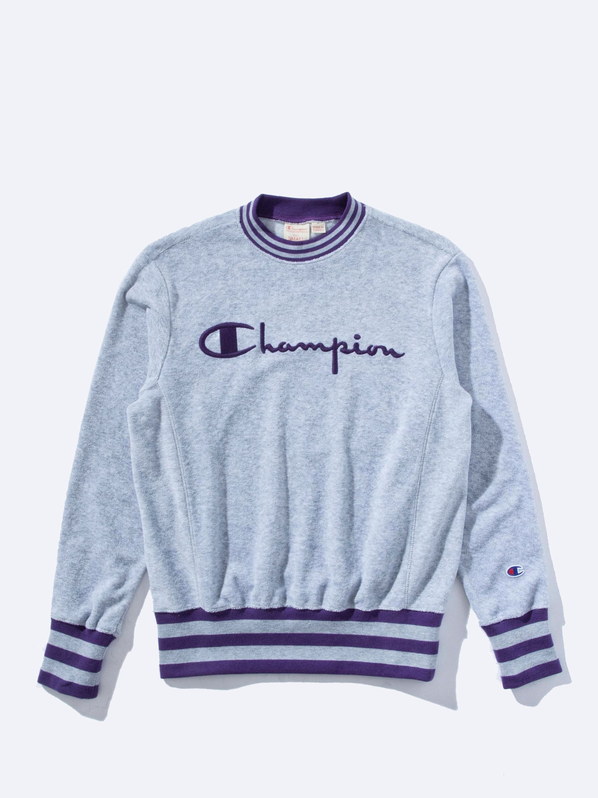 Oxford Grey Sponge Terry Crewneck Sweatshirt 1