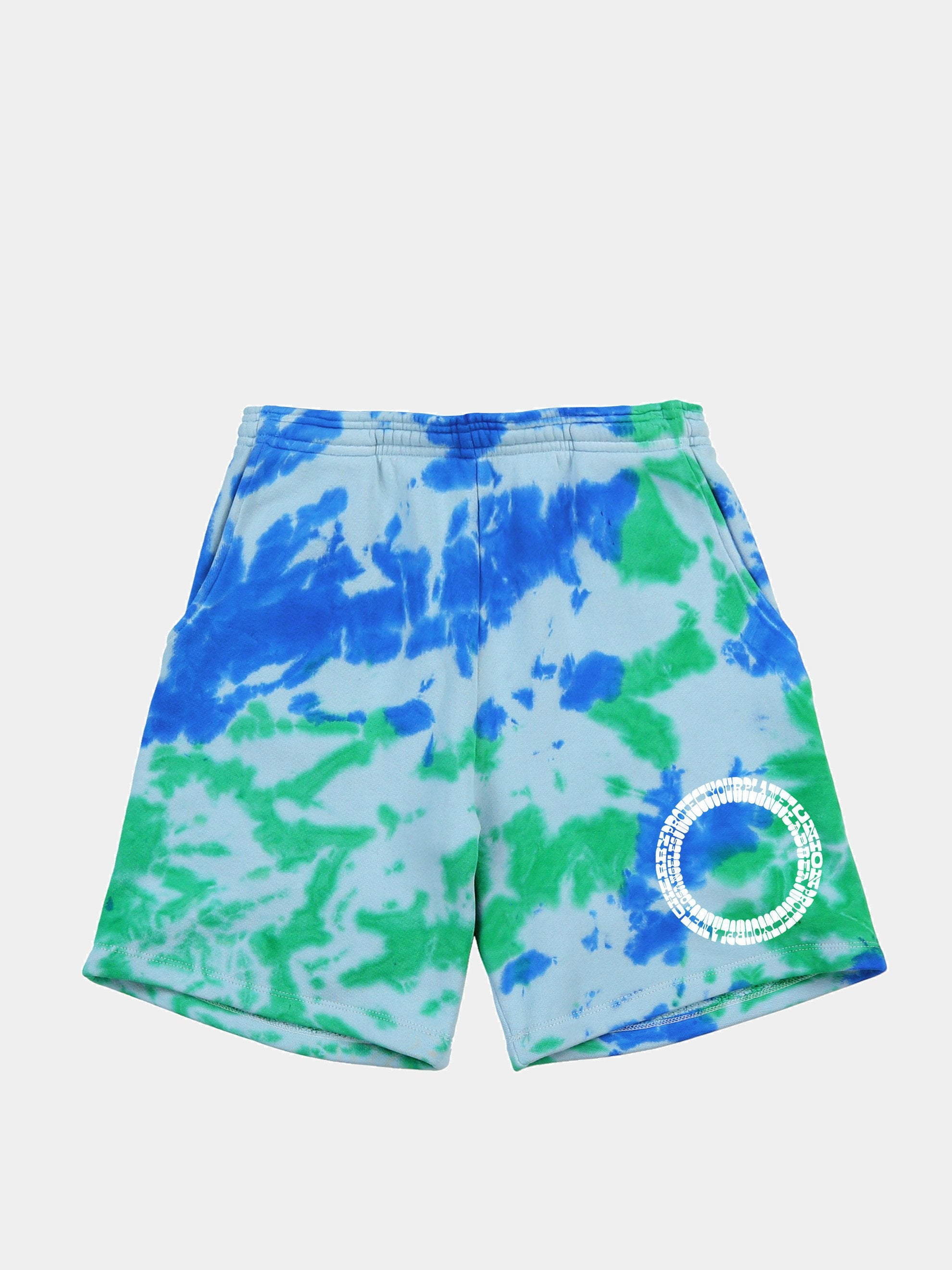 Blue Tye-Dye Shorts 1