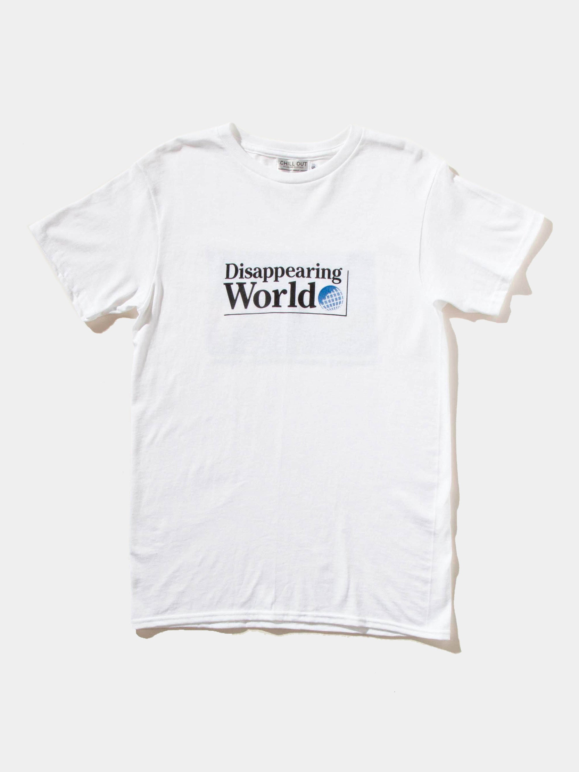 White Disappearing World T-Shirt 1