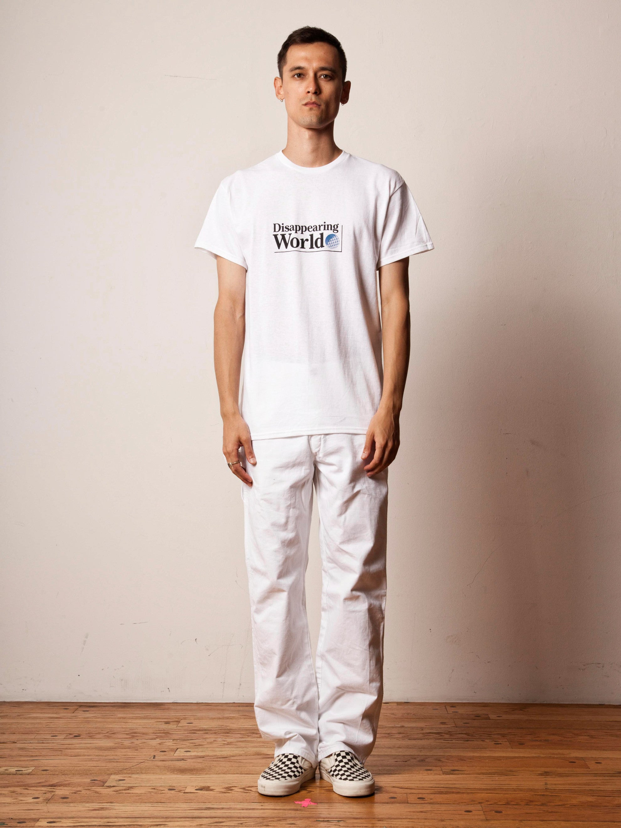 White Disappearing World T-Shirt 2