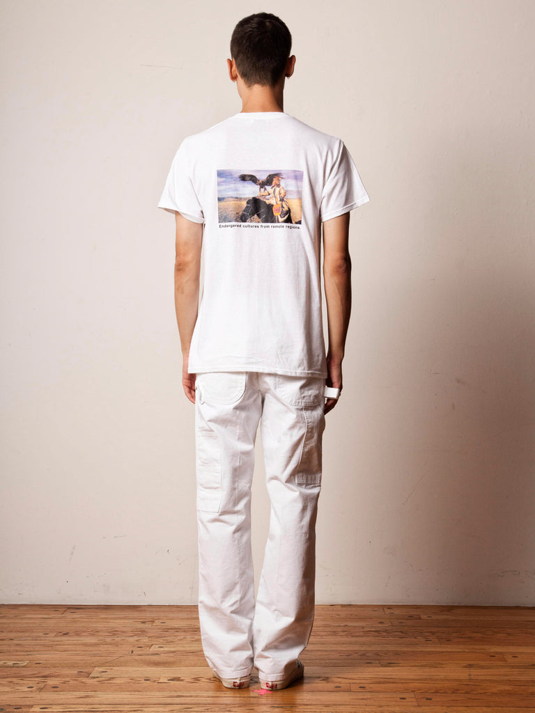White Disappearing World T-Shirt 322303007049