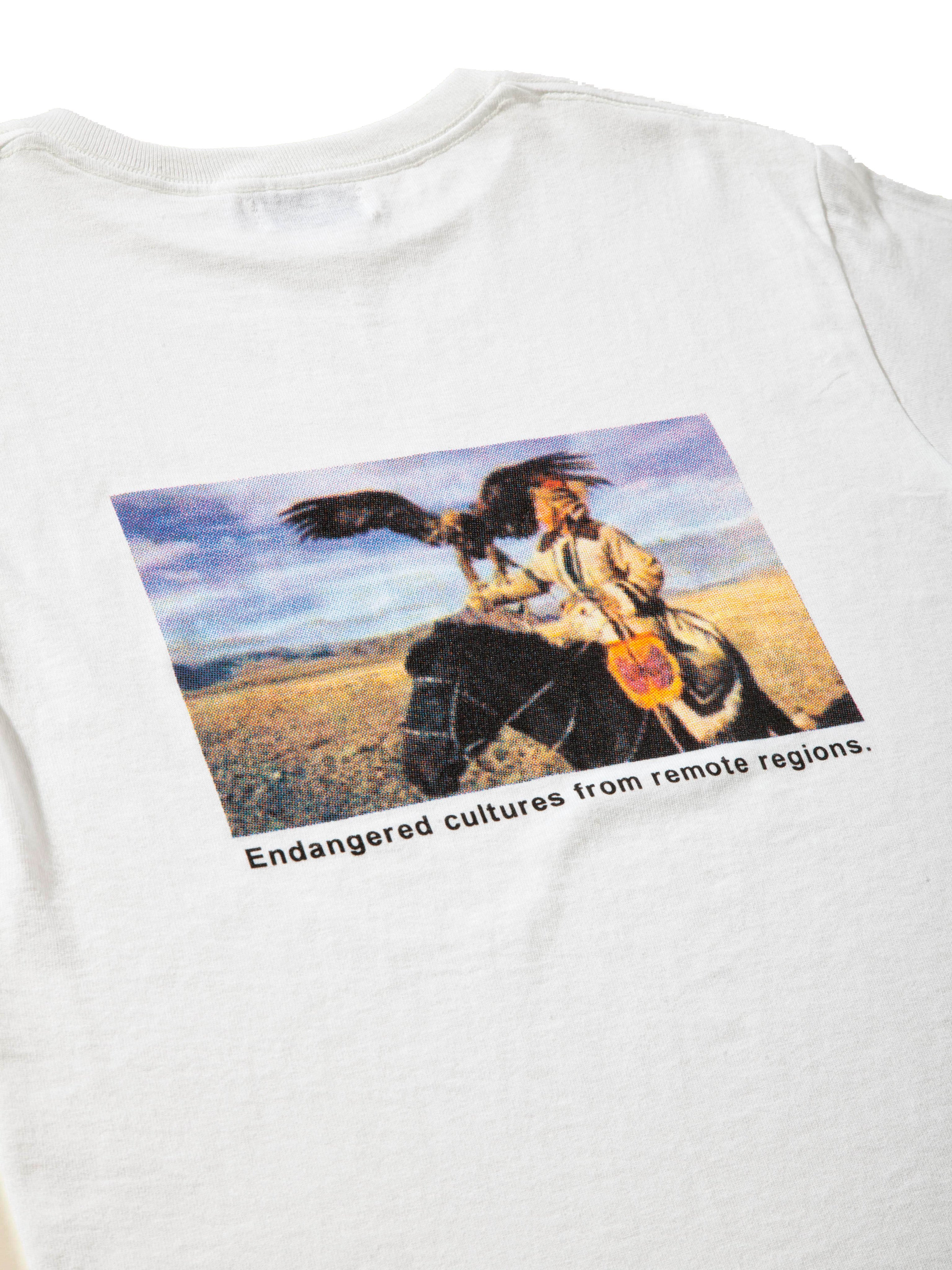 White Disappearing World T-Shirt 7