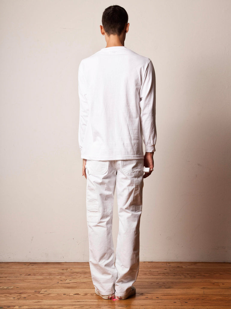 White Passing Breeze Long Sleeve T-Shirt 422303019593