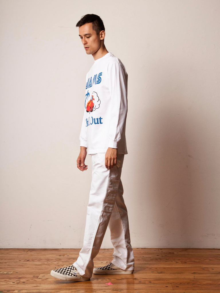 White Passing Breeze Long Sleeve T-Shirt 522303020617