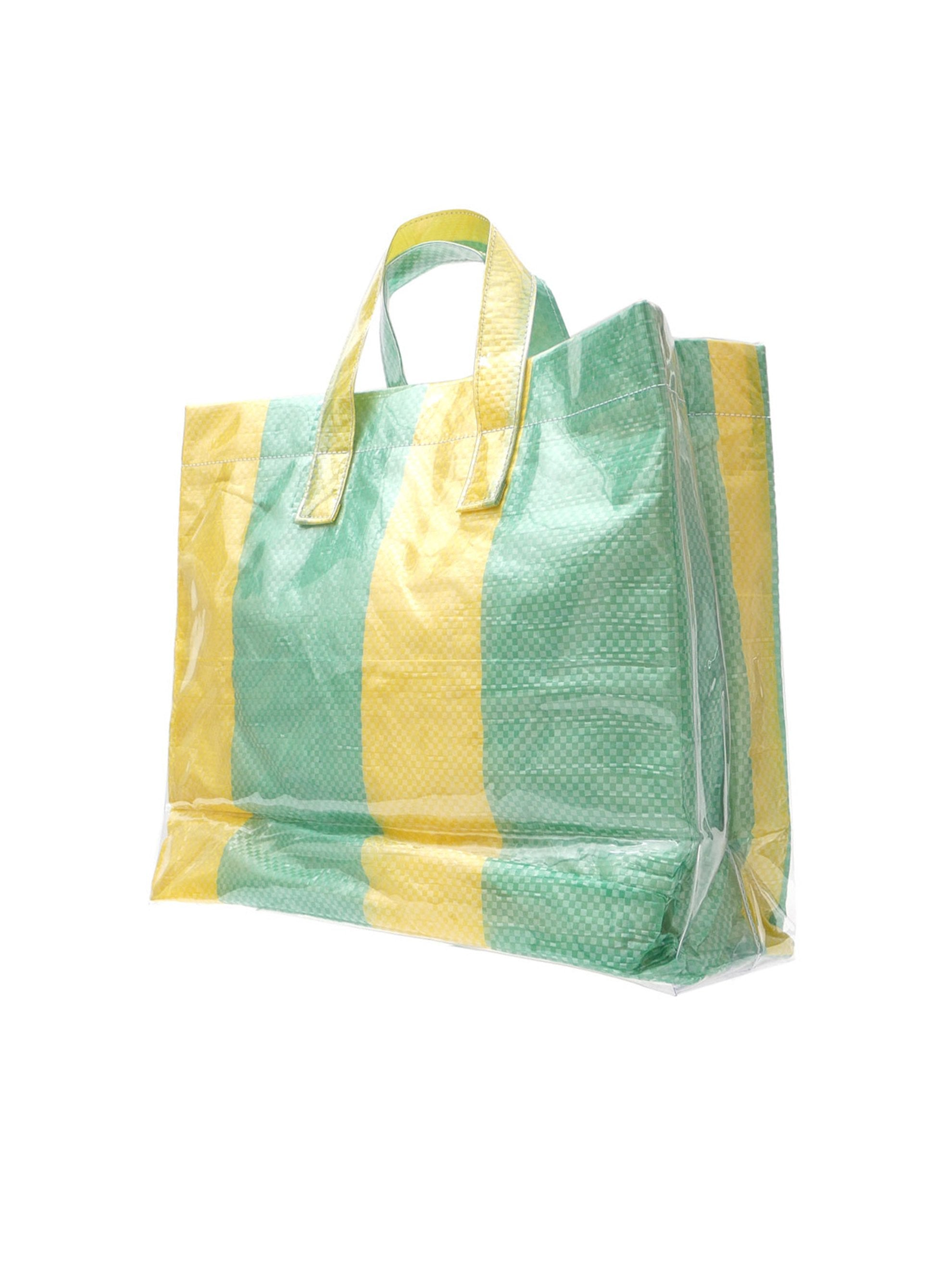 Striped PVC Tote