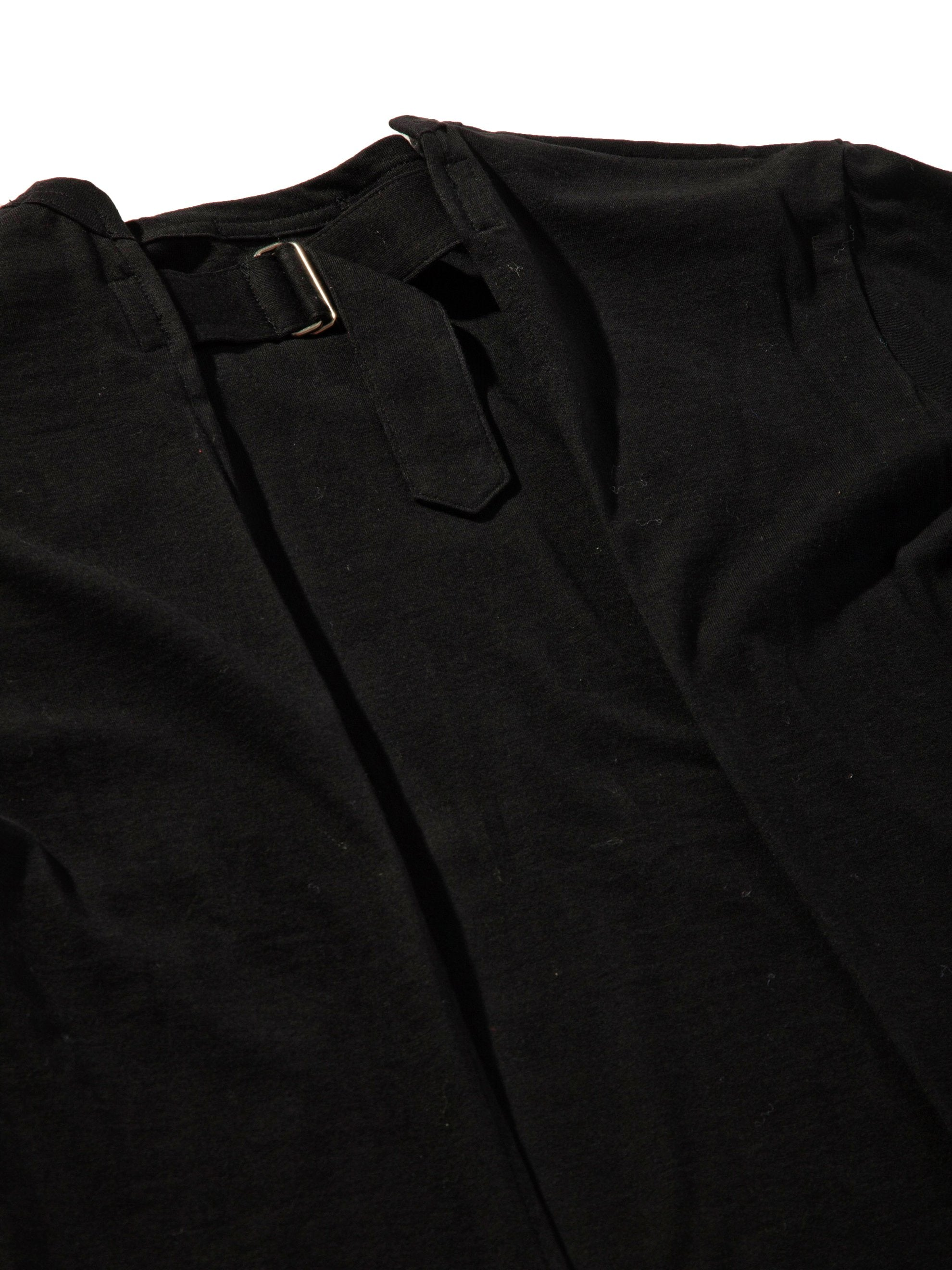 Black Slit Back Buckle T-Shirt 7