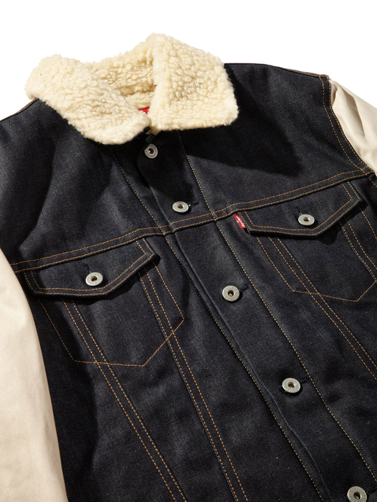 L Shearling Levis Denim Jacket 724223605769