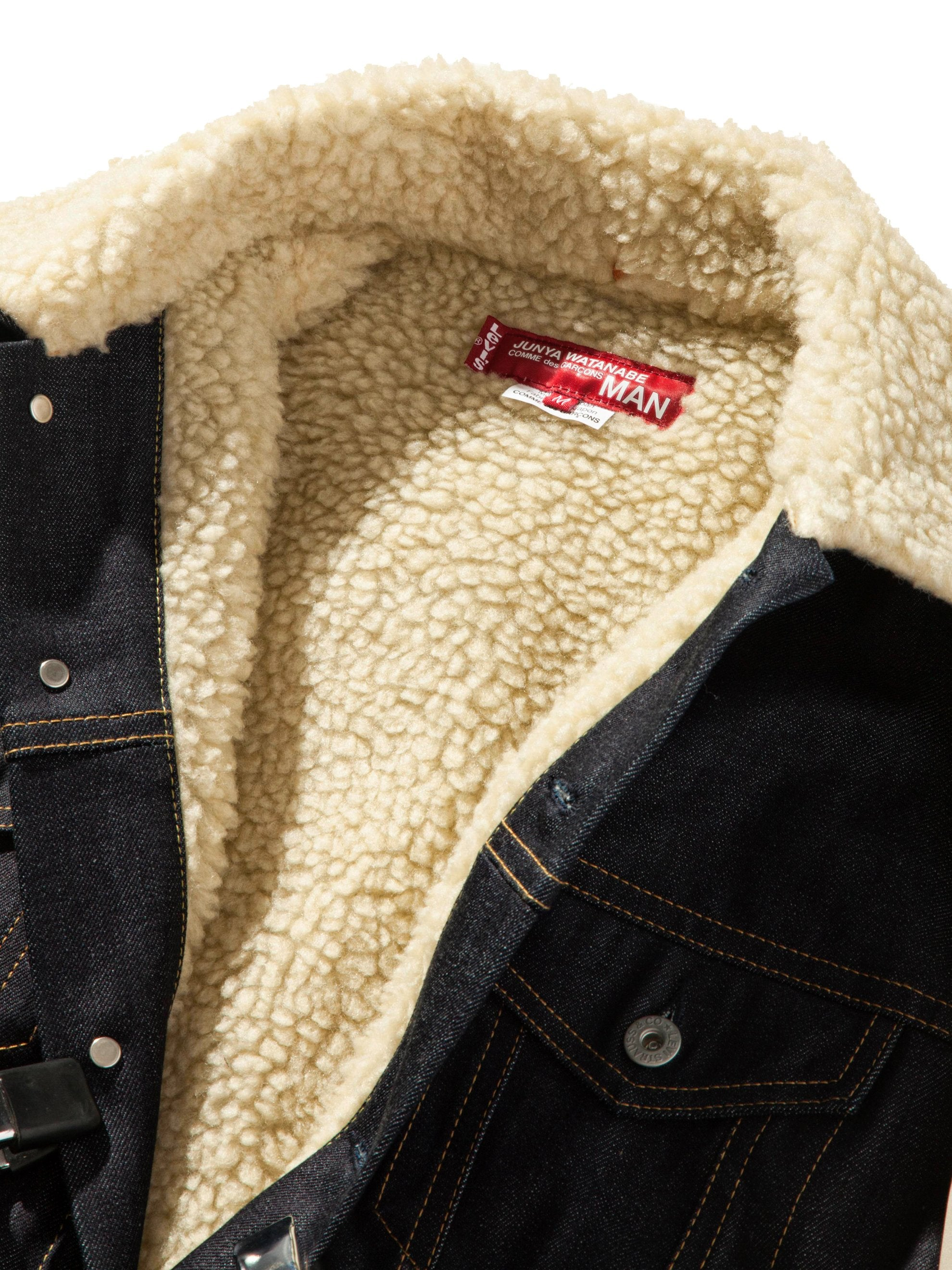 L Shearling Levis Denim Jacket 8