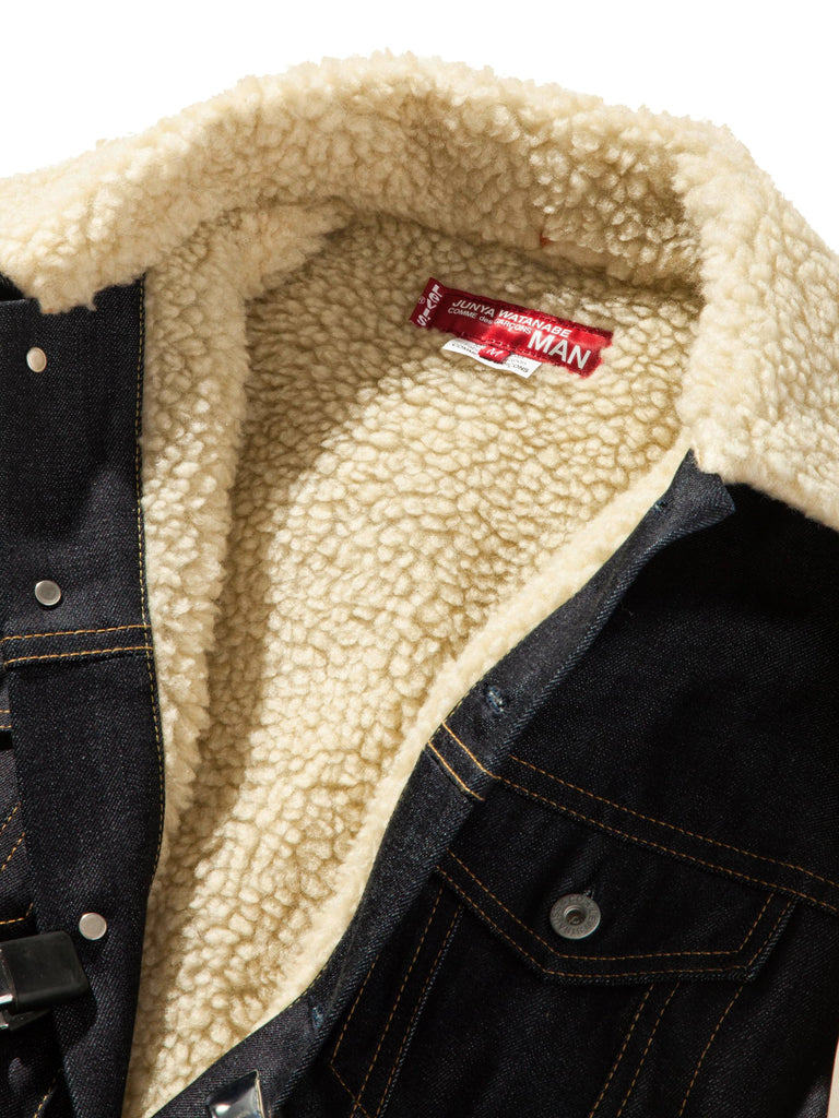 L Shearling Levis Denim Jacket 824223607241
