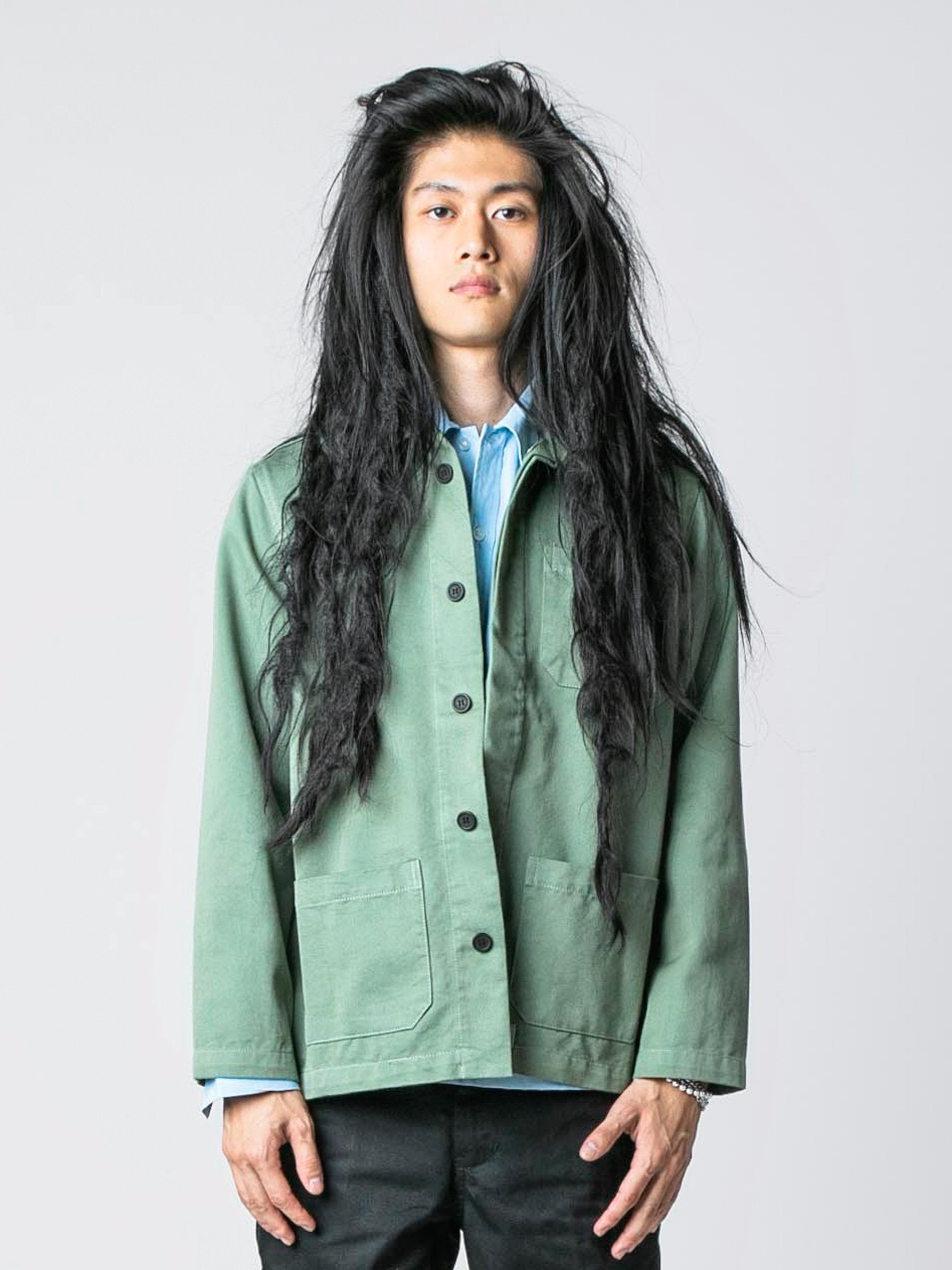 Worker Green / Pop Green Chore Jacket 2