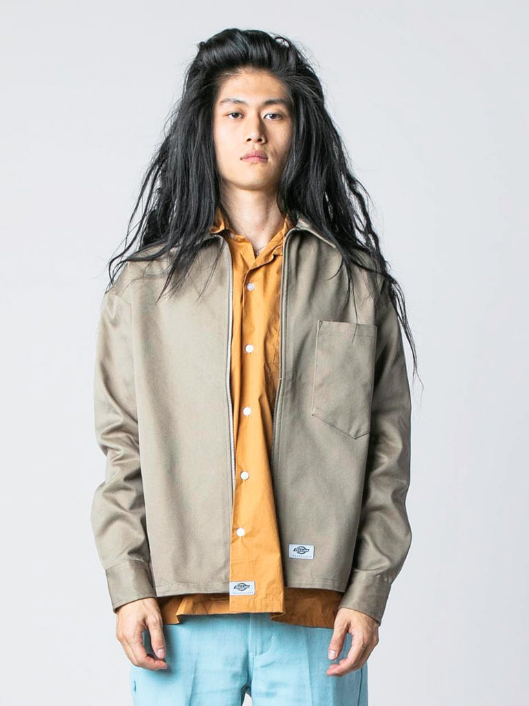 Taupe / Apricot Zip Front Jacket 213570546466893