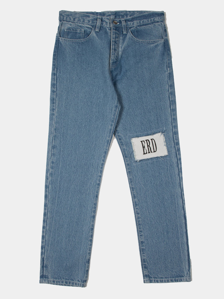 Logo Knee Patch Perfect Skinny Jean