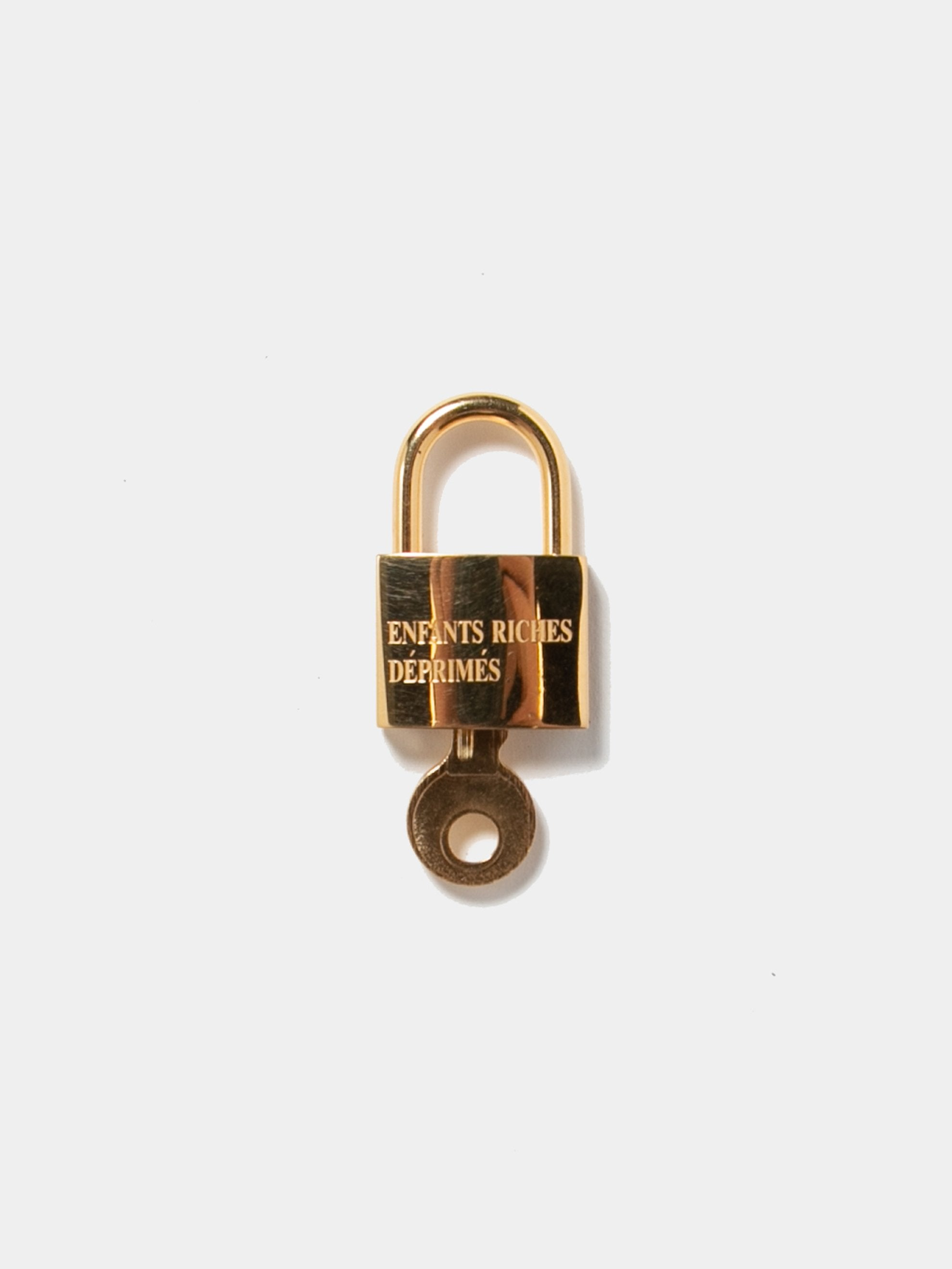 Gold Plated Sterling Small Logo Lock 1