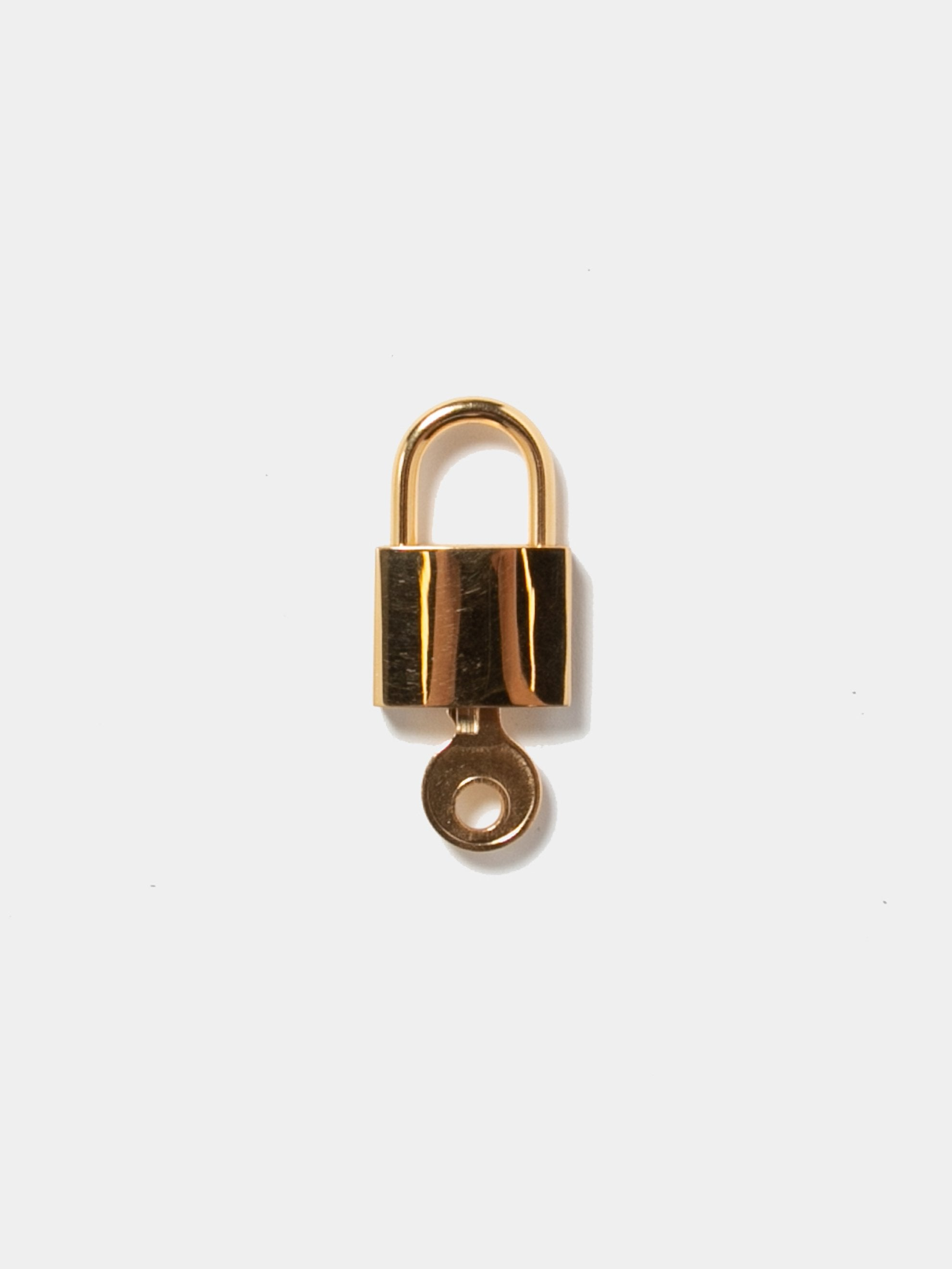 Gold Plated Sterling Small Logo Lock 3
