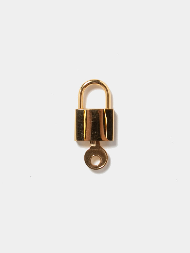 Gold Plated Sterling Small Logo Lock 314096497737805