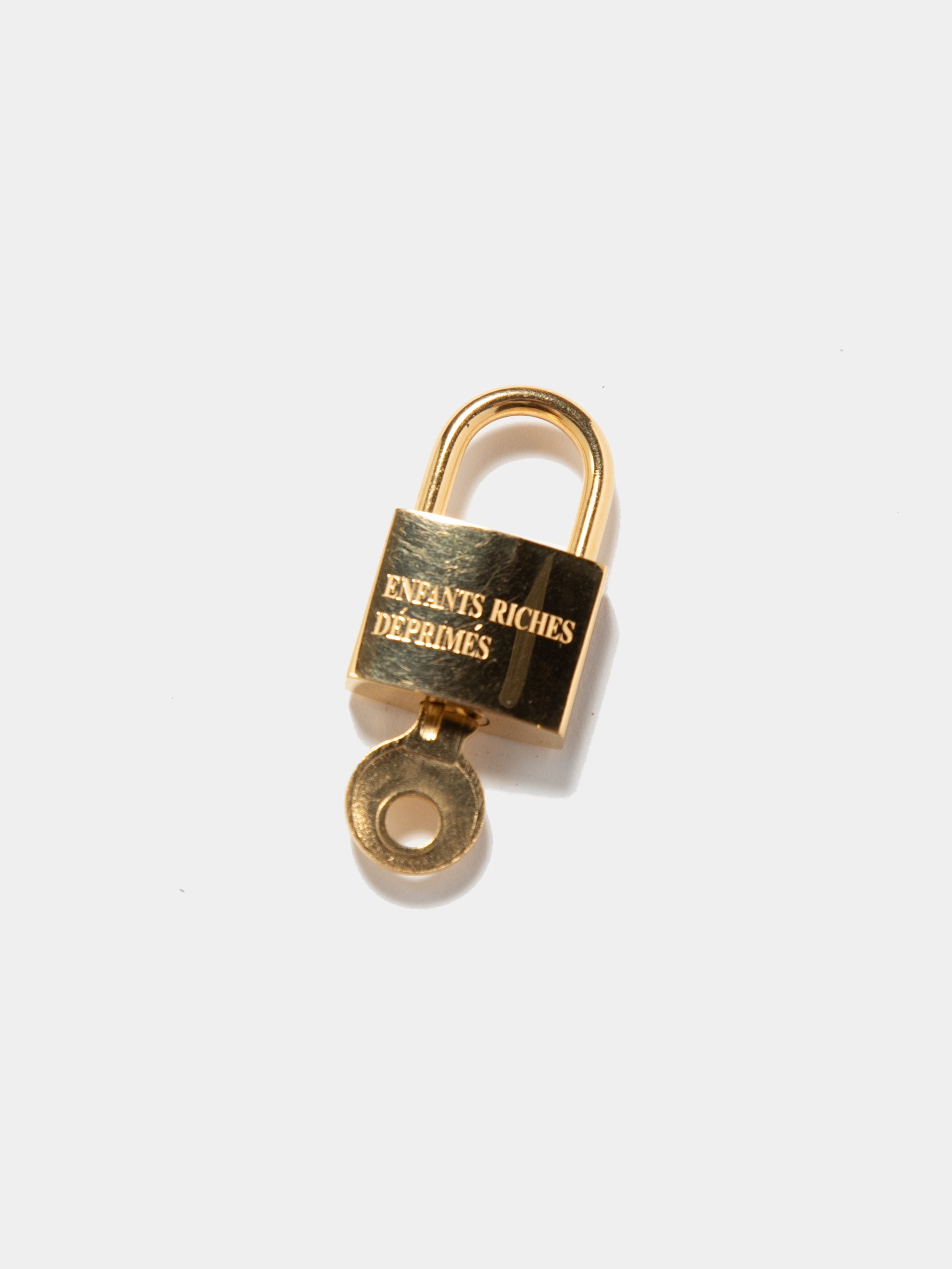 Gold Plated Sterling Small Logo Lock 2