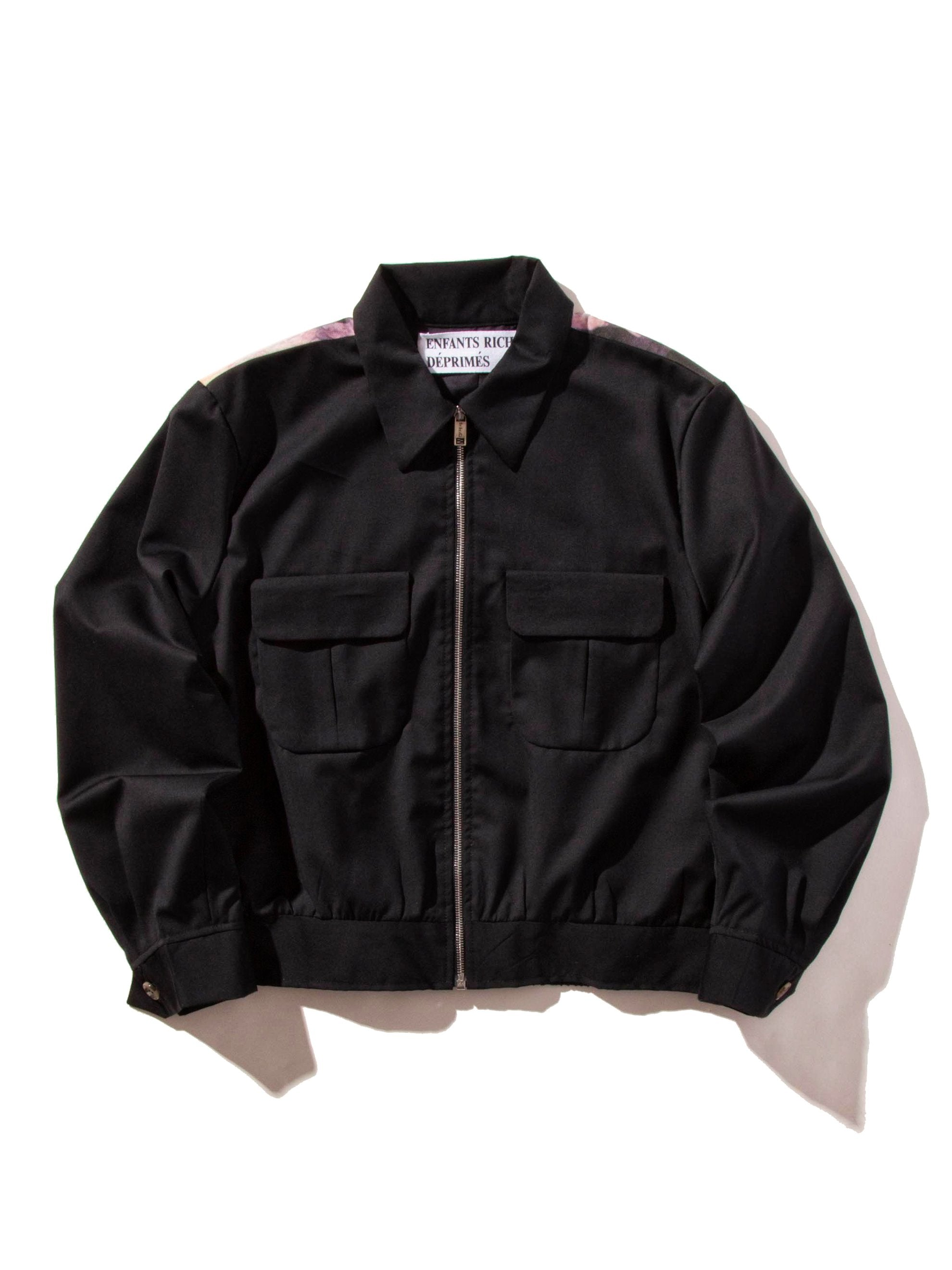 Black Christiane F Cropped Cadet Jacket 6