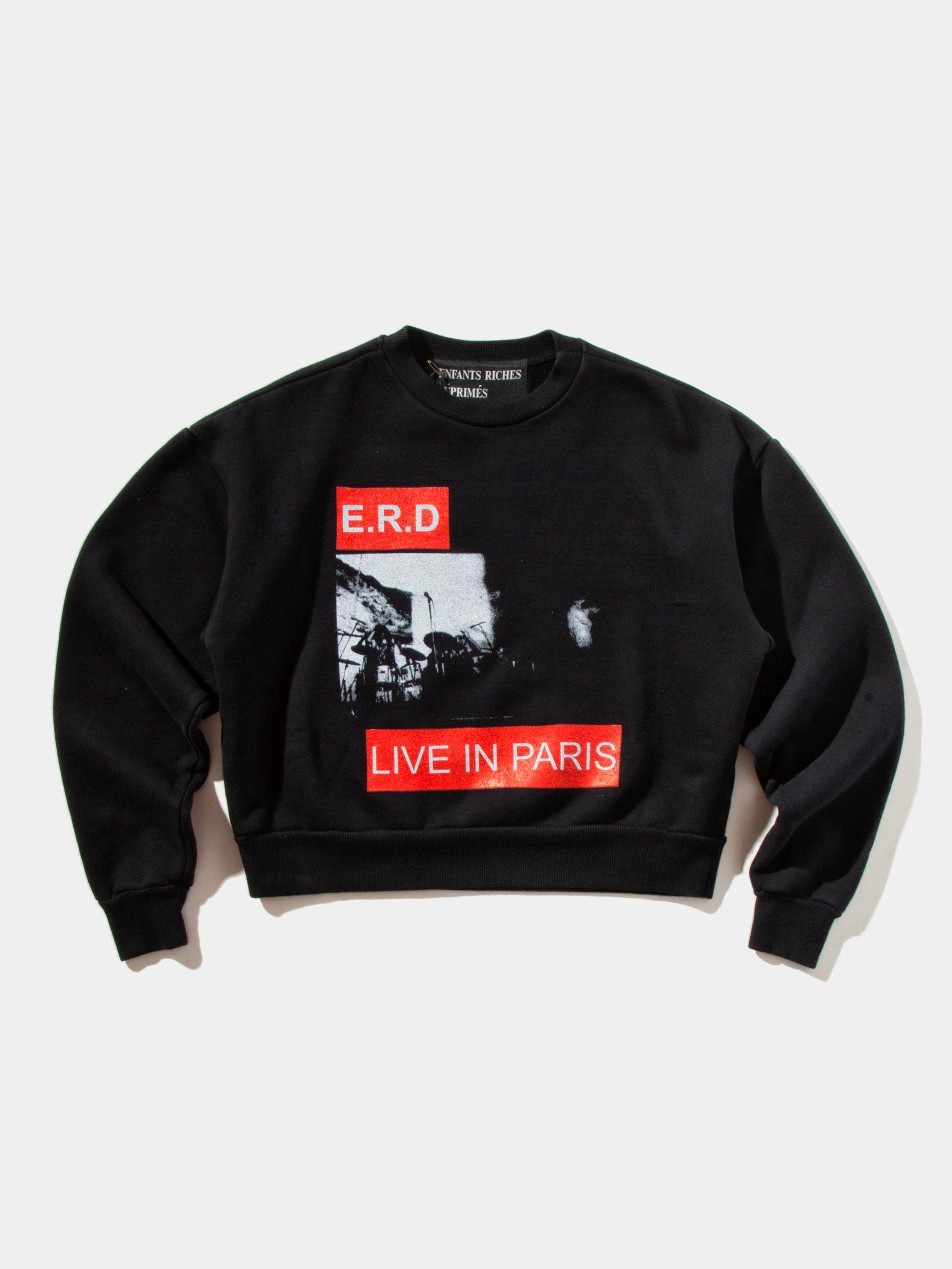 Black Live In Paris Crewneck Sweatshirt 1