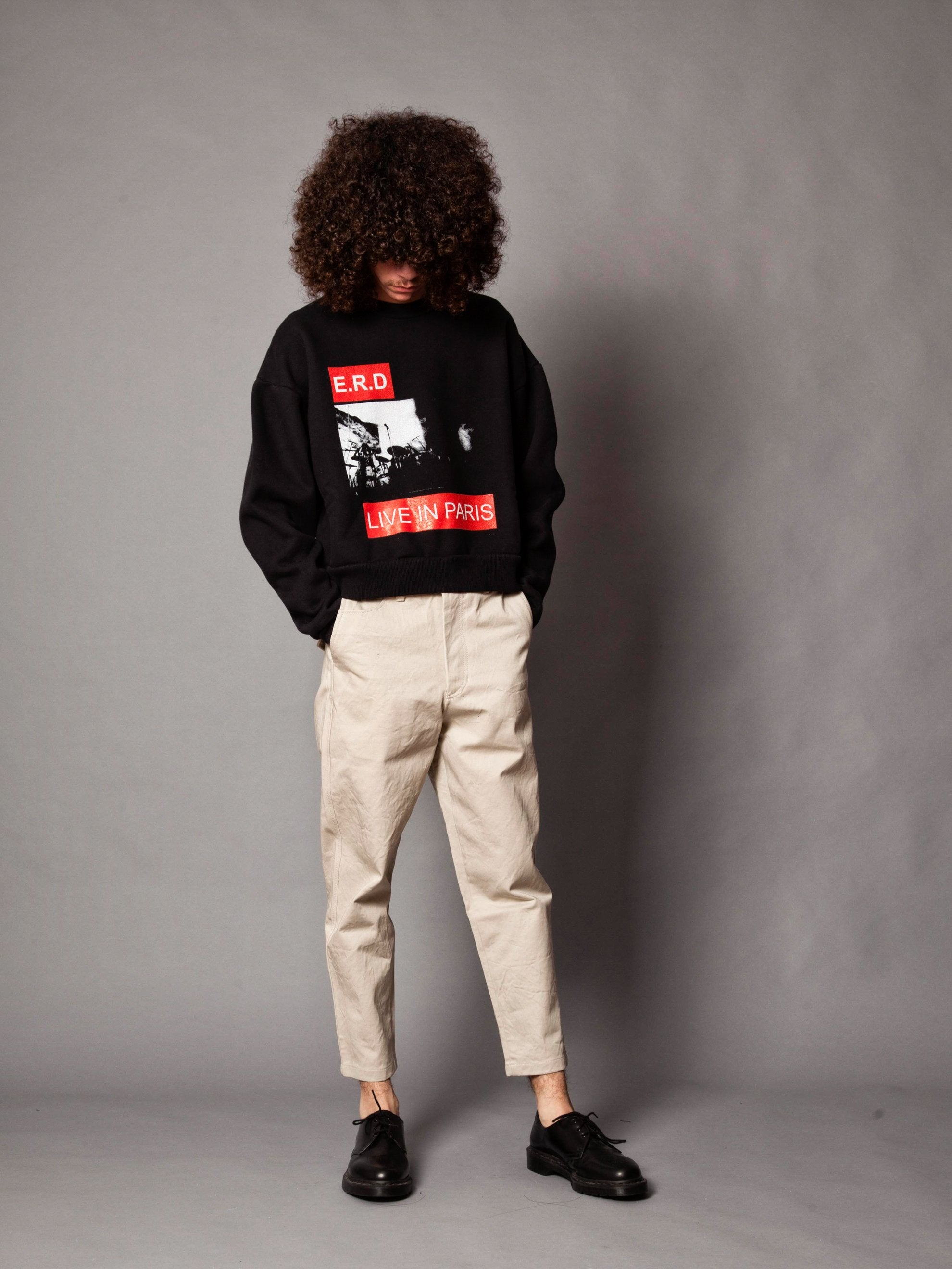 Black Live In Paris Crewneck Sweatshirt 5