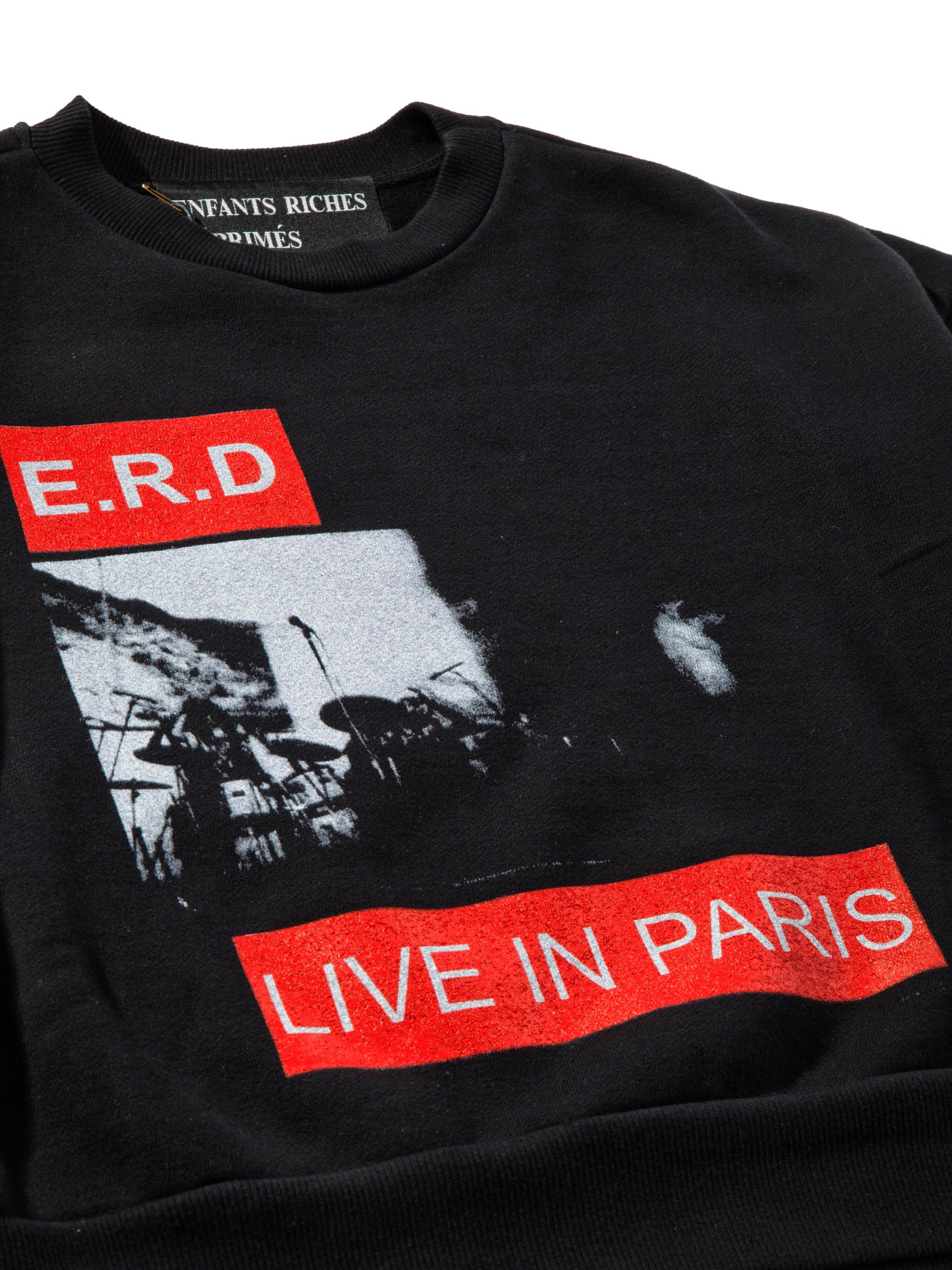 Black Live In Paris Crewneck Sweatshirt 6