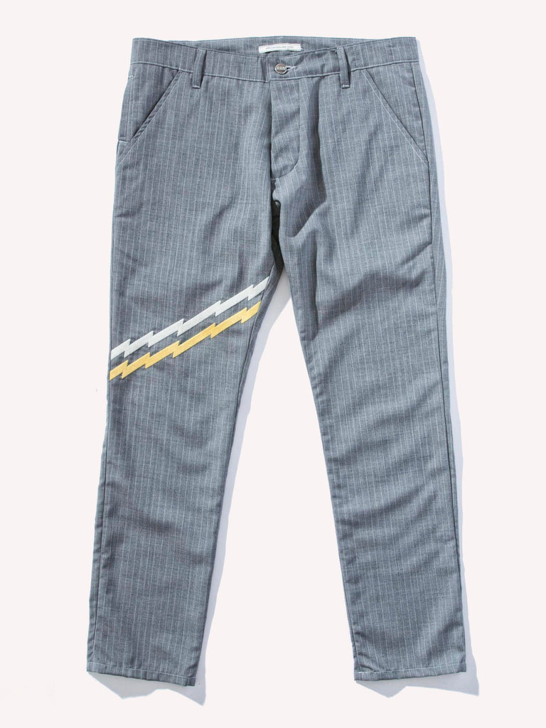 Zig-Zag Embroidery 5-Pocket Trousers