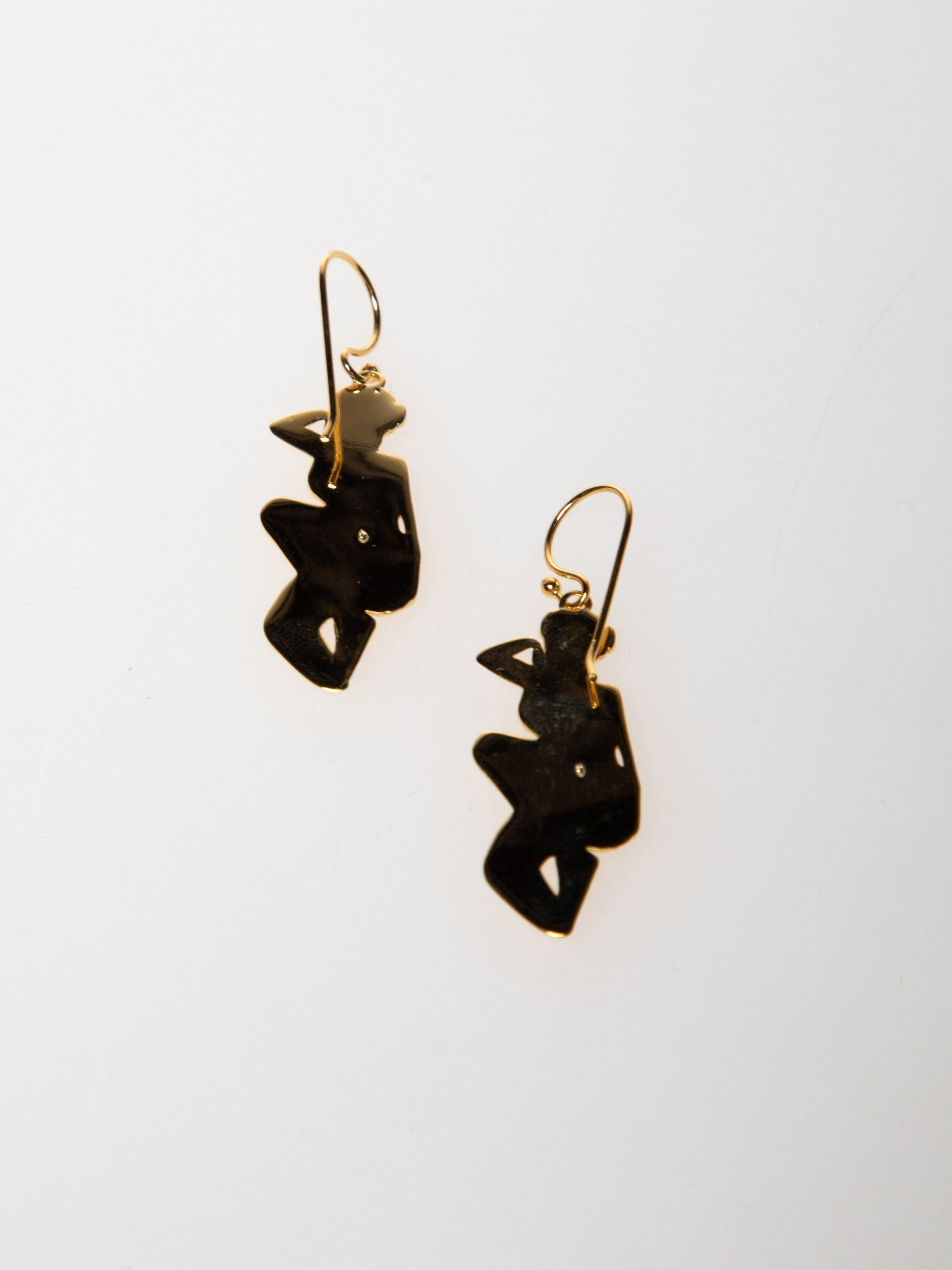 Gold Plated Sterling Pin Up Girl Earrings 2