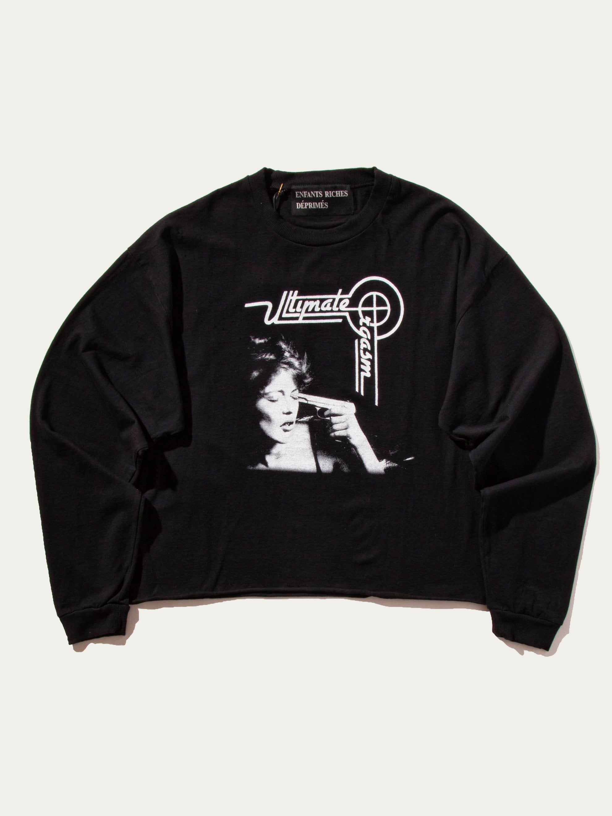Black Ultimate Orgasam Long Sleeve Crew 1