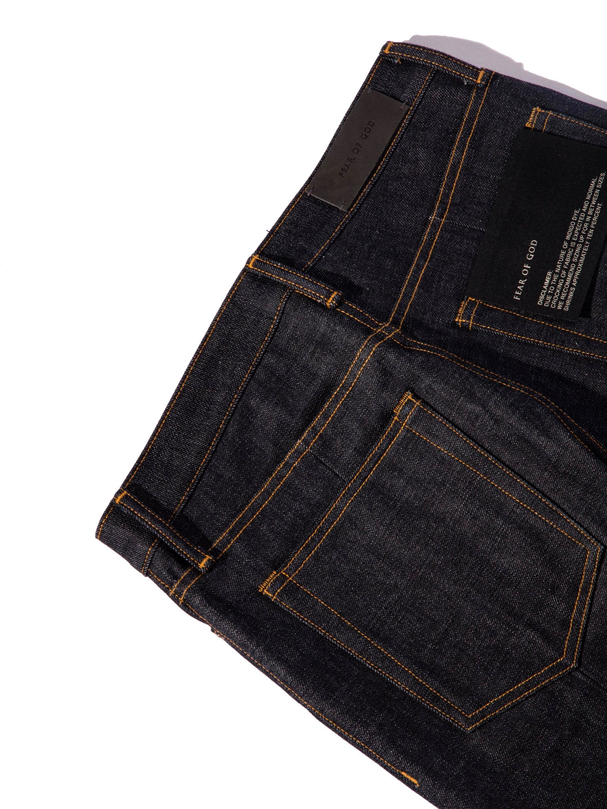 Raw Indigo Selvedge Paneled Denim Jean 12