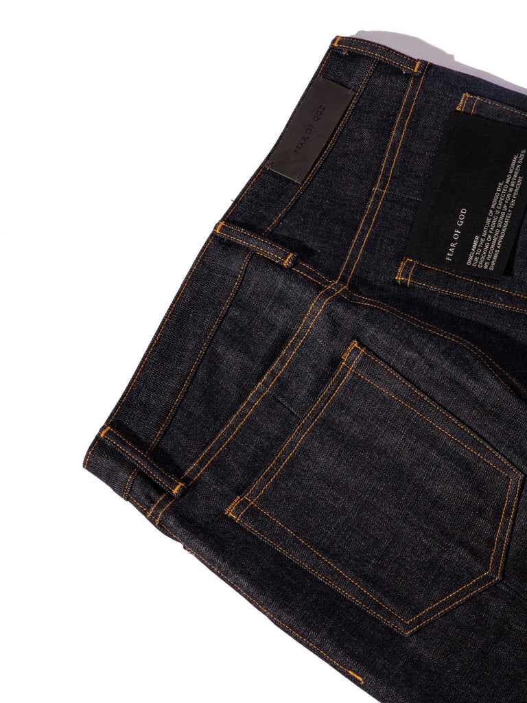 Raw Indigo Selvedge Paneled Denim Jean 1213572202365005