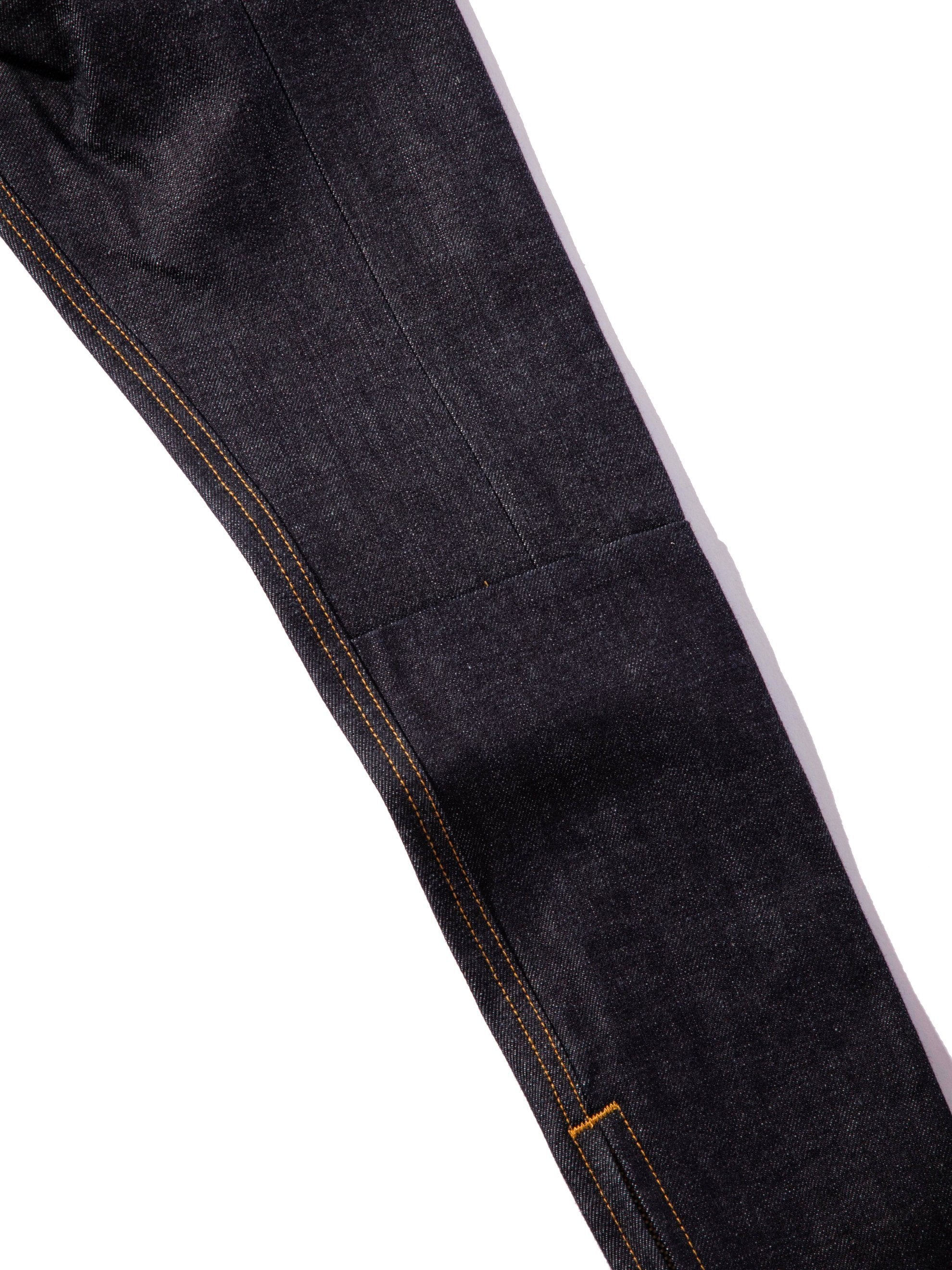 Raw Indigo Selvedge Paneled Denim Jean 8