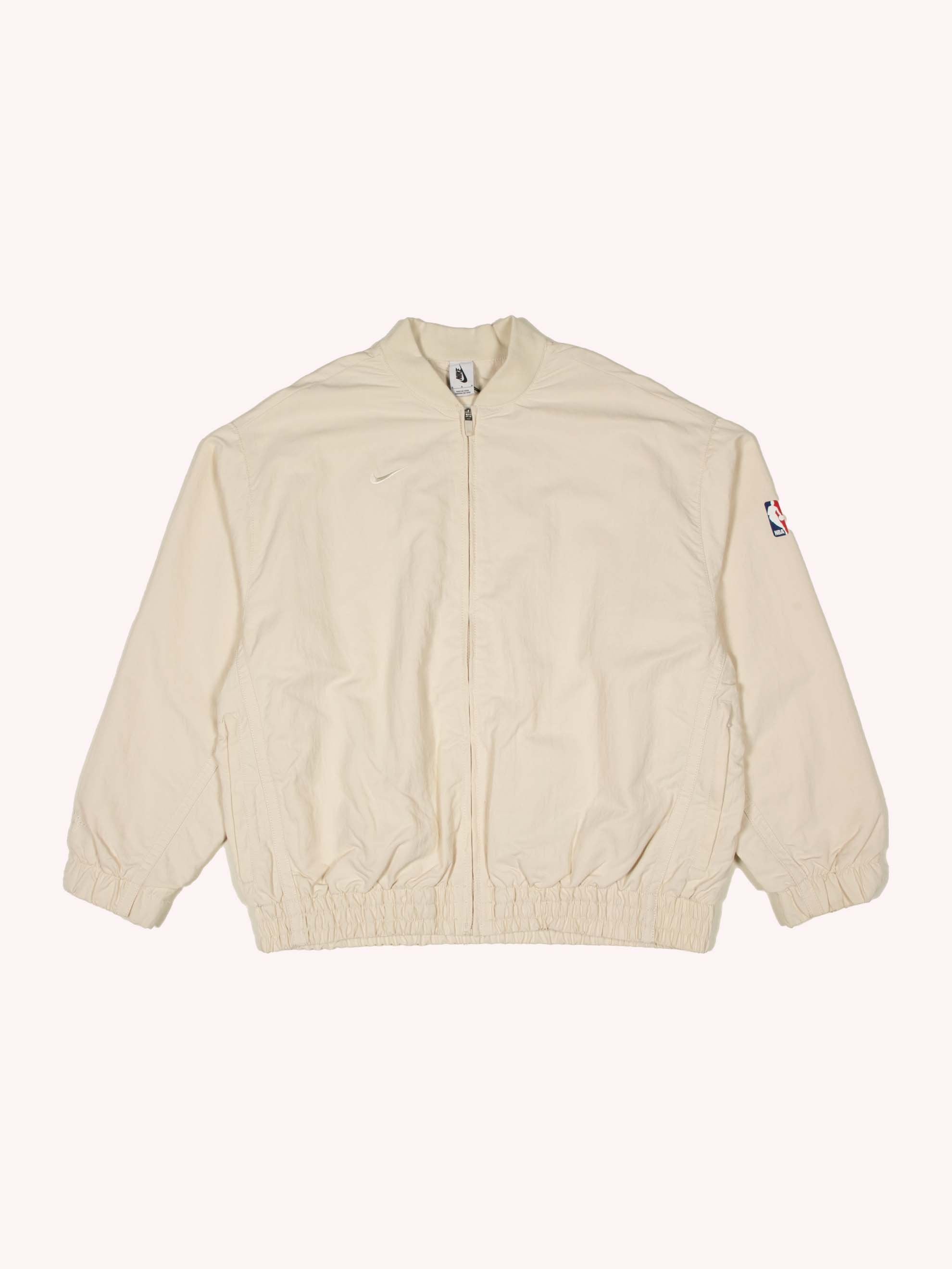 Light Cream Nike x Fear of God Basketball Jacket 1