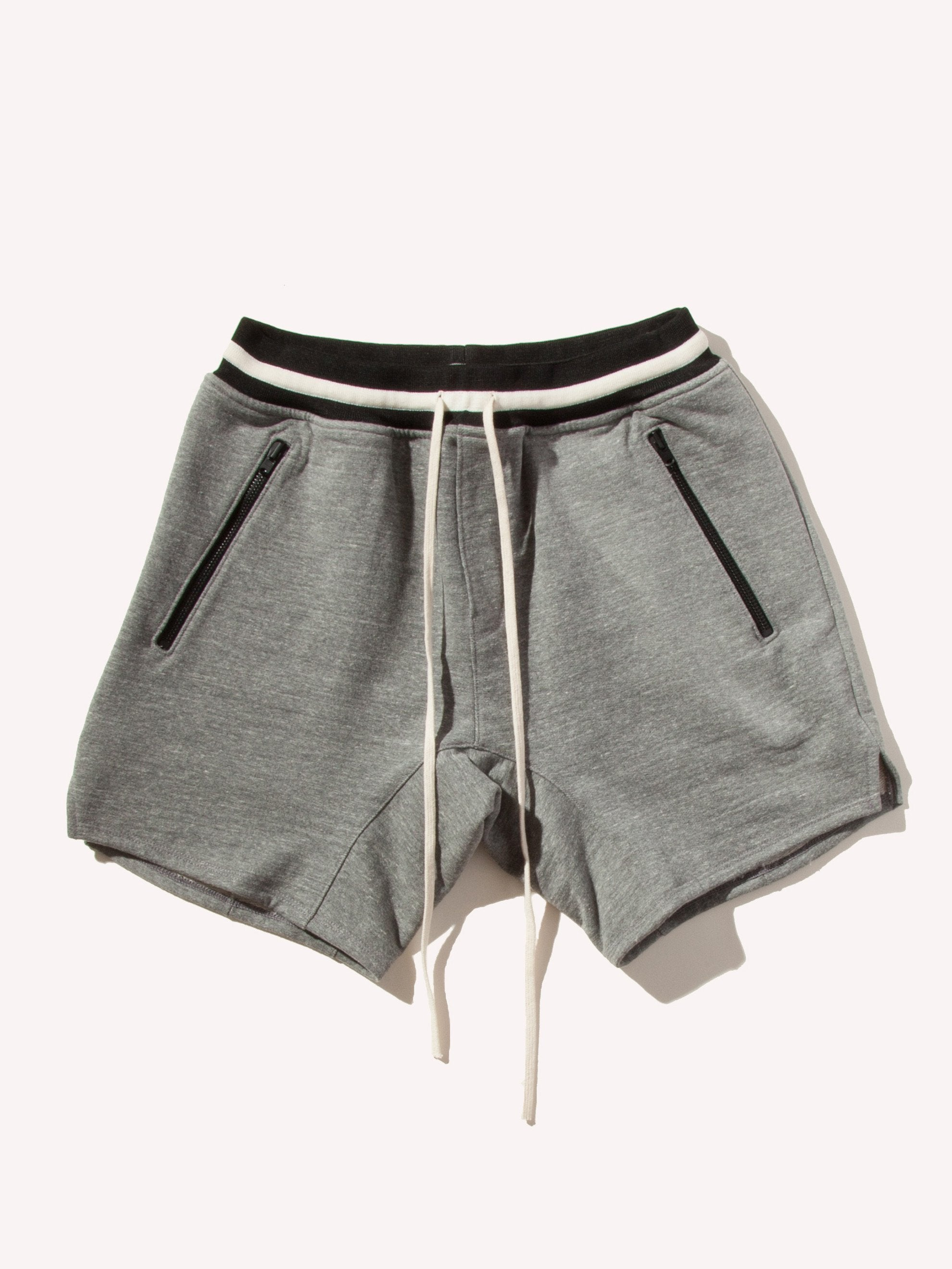 Heather Grey Heavy Terry Sweat Short 11