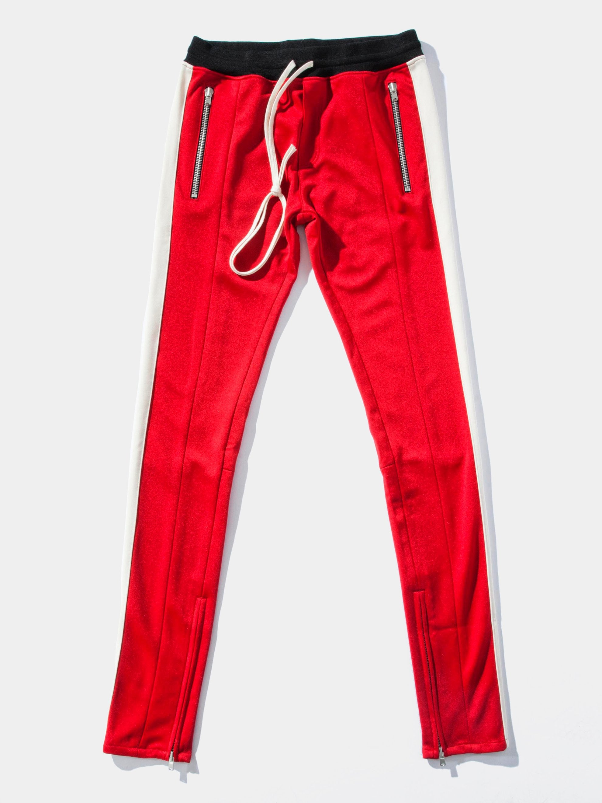Red/Cream Drawstring Track Pant 1