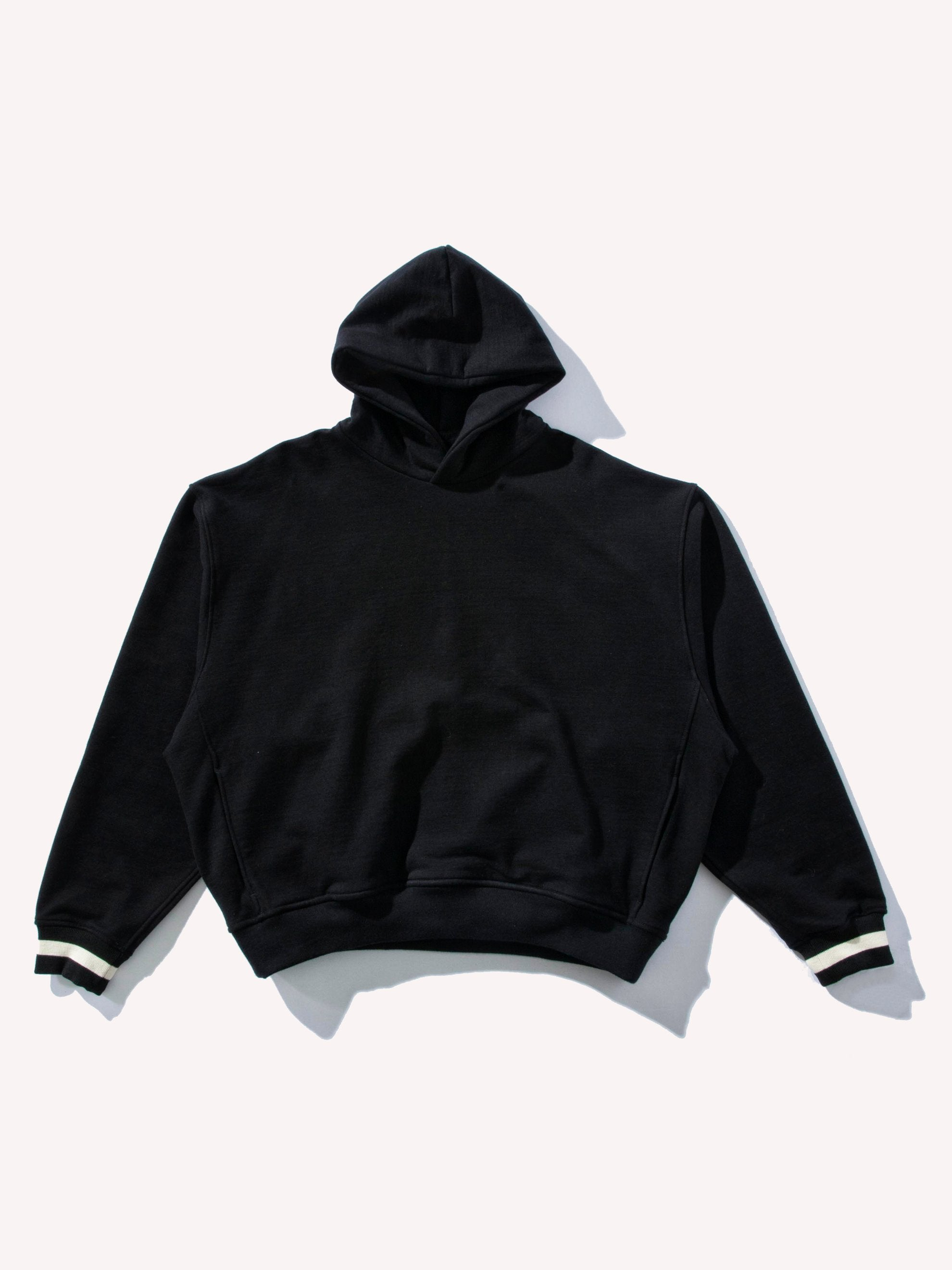 Black Heavy Terry Everyday Hoodie 1