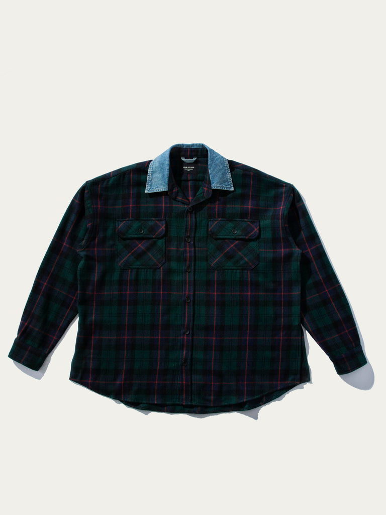 Denim Collard Flannel