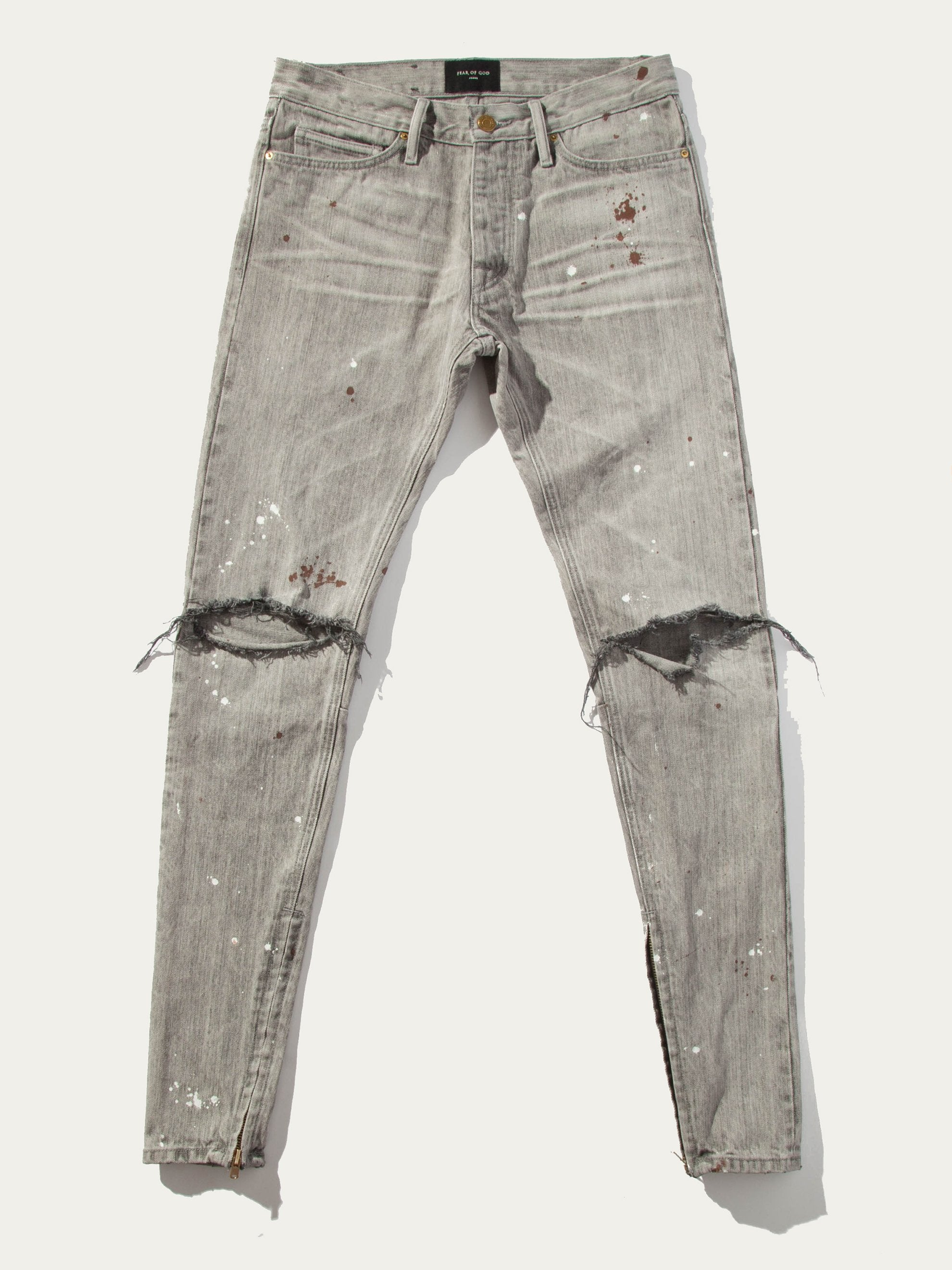 Grey Vintage Wash Selvedge Denim Vintage Jean 1