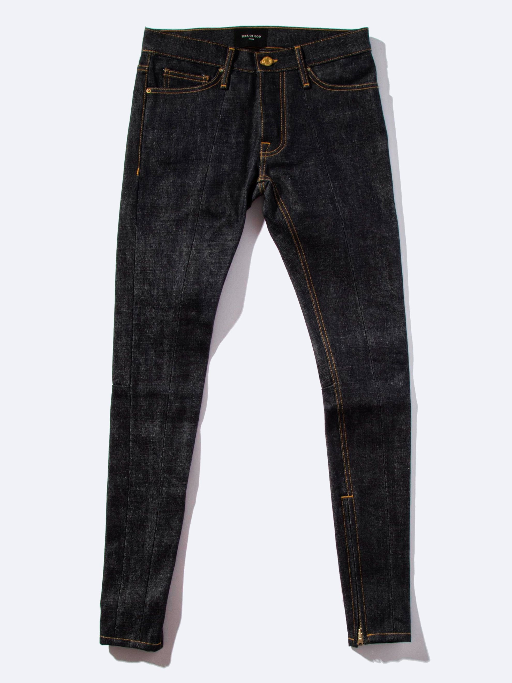 Raw Indigo Selvedge Paneled Denim Jean 1