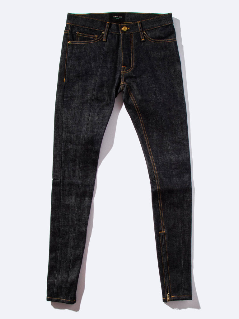 Selvedge Paneled Denim Jean