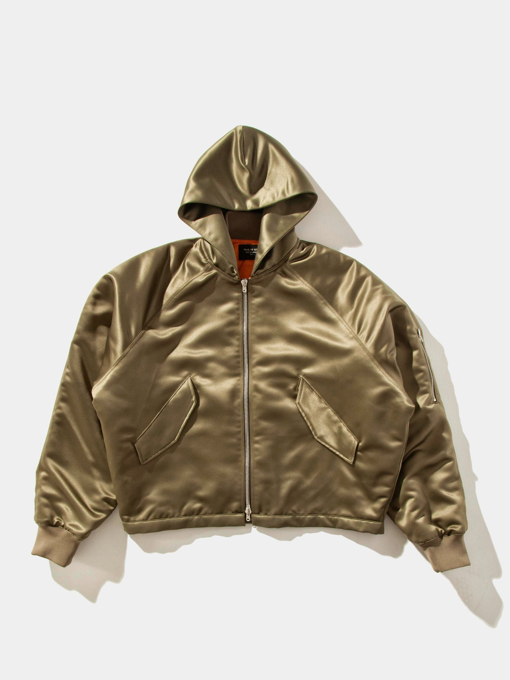 Satin Hooded Bomber