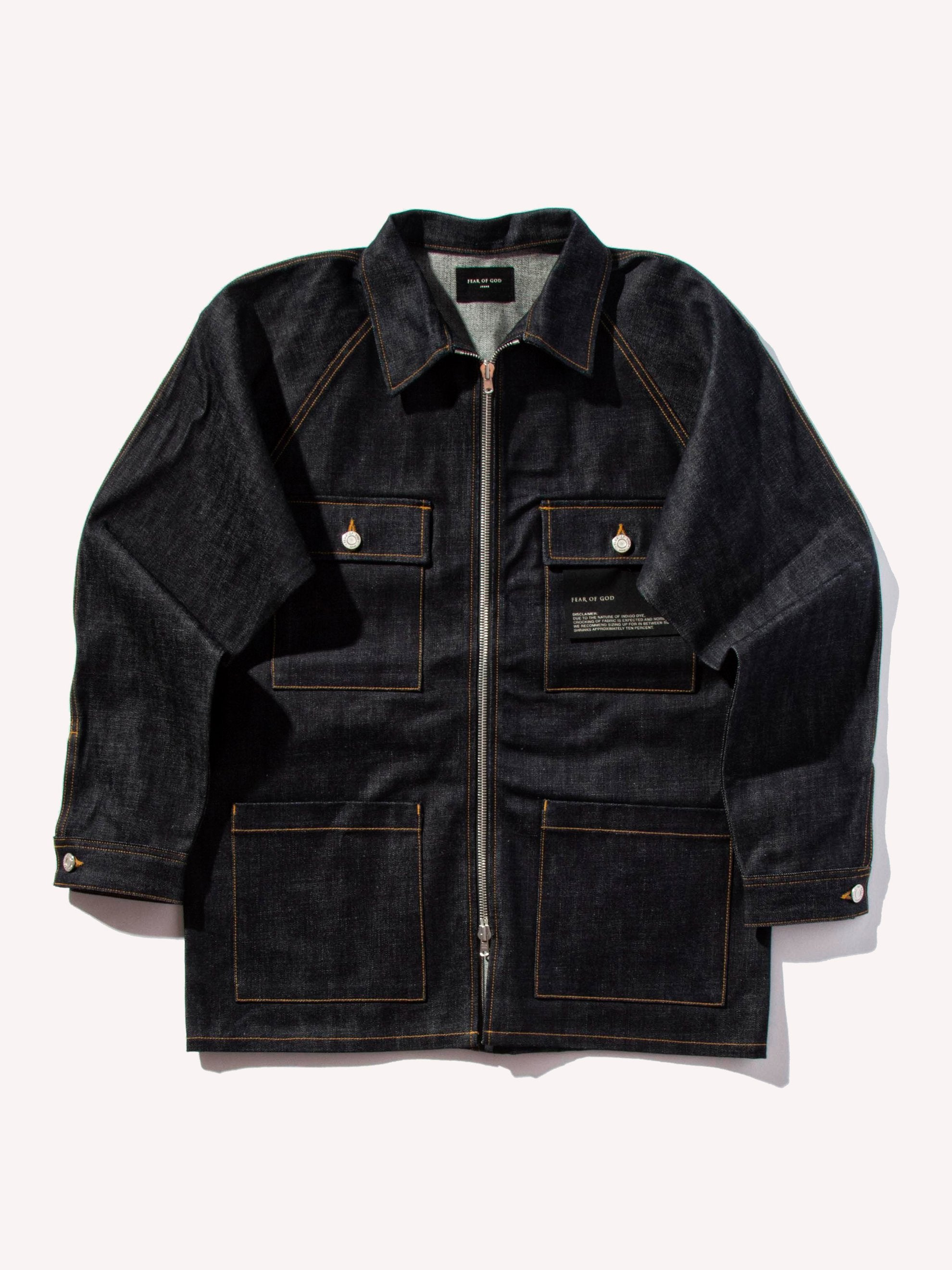 Raw Indigo Raw Selvedge Denim Long Jacket 1