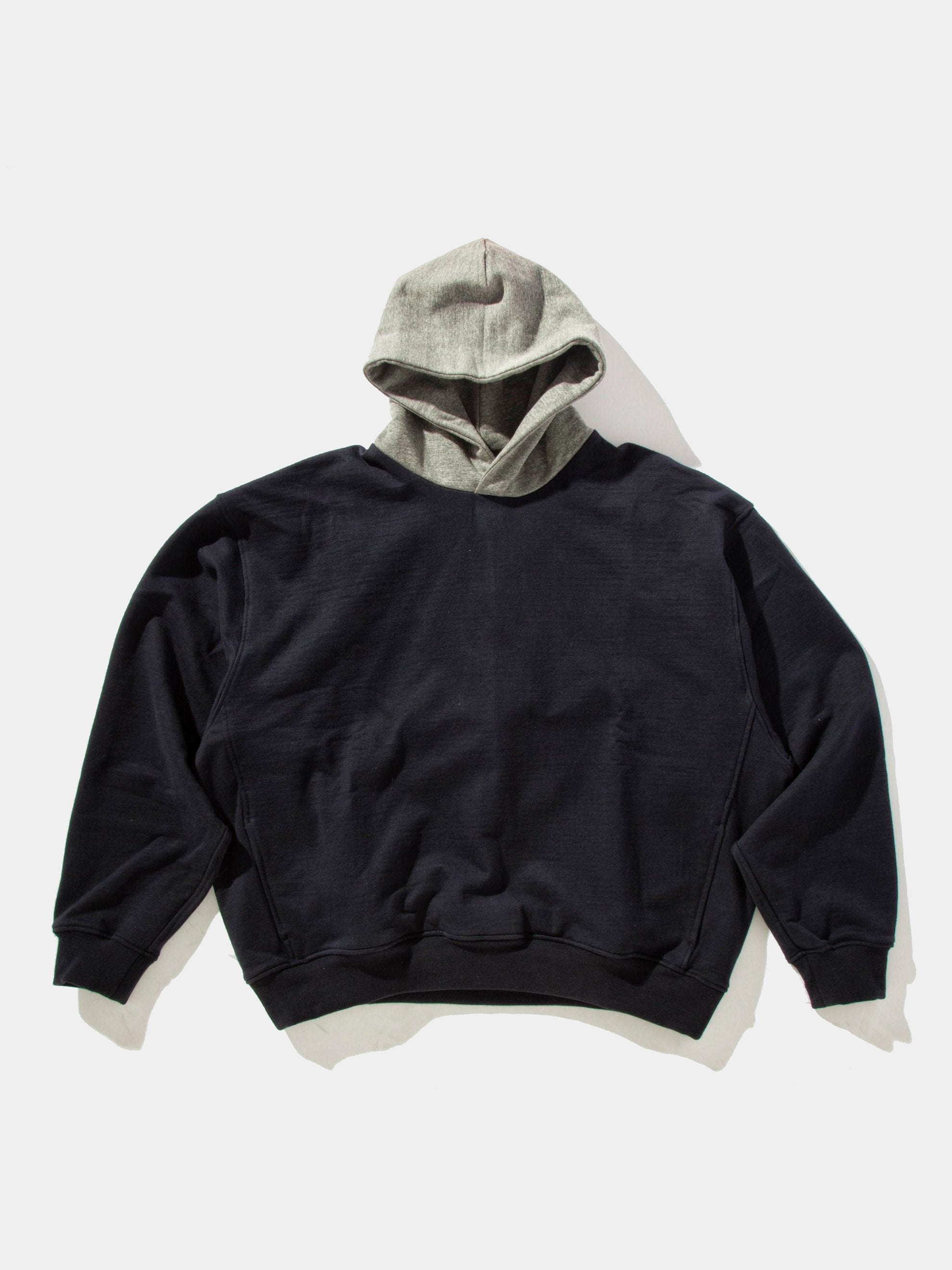 Navy/Heather Grey Heavy Terry Everyday Hoodie 1