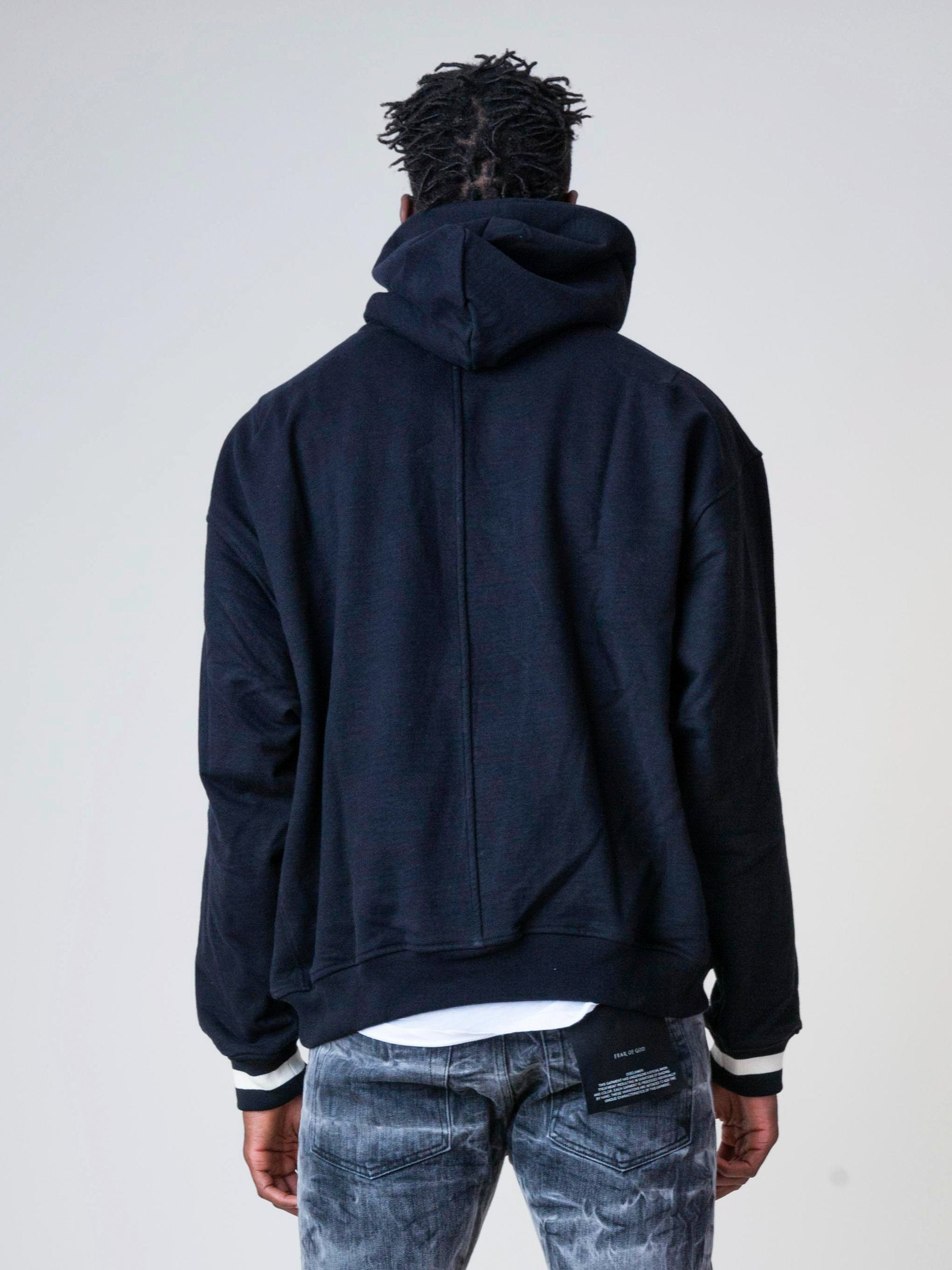 Black Heavy Terry Everyday Hoodie 6